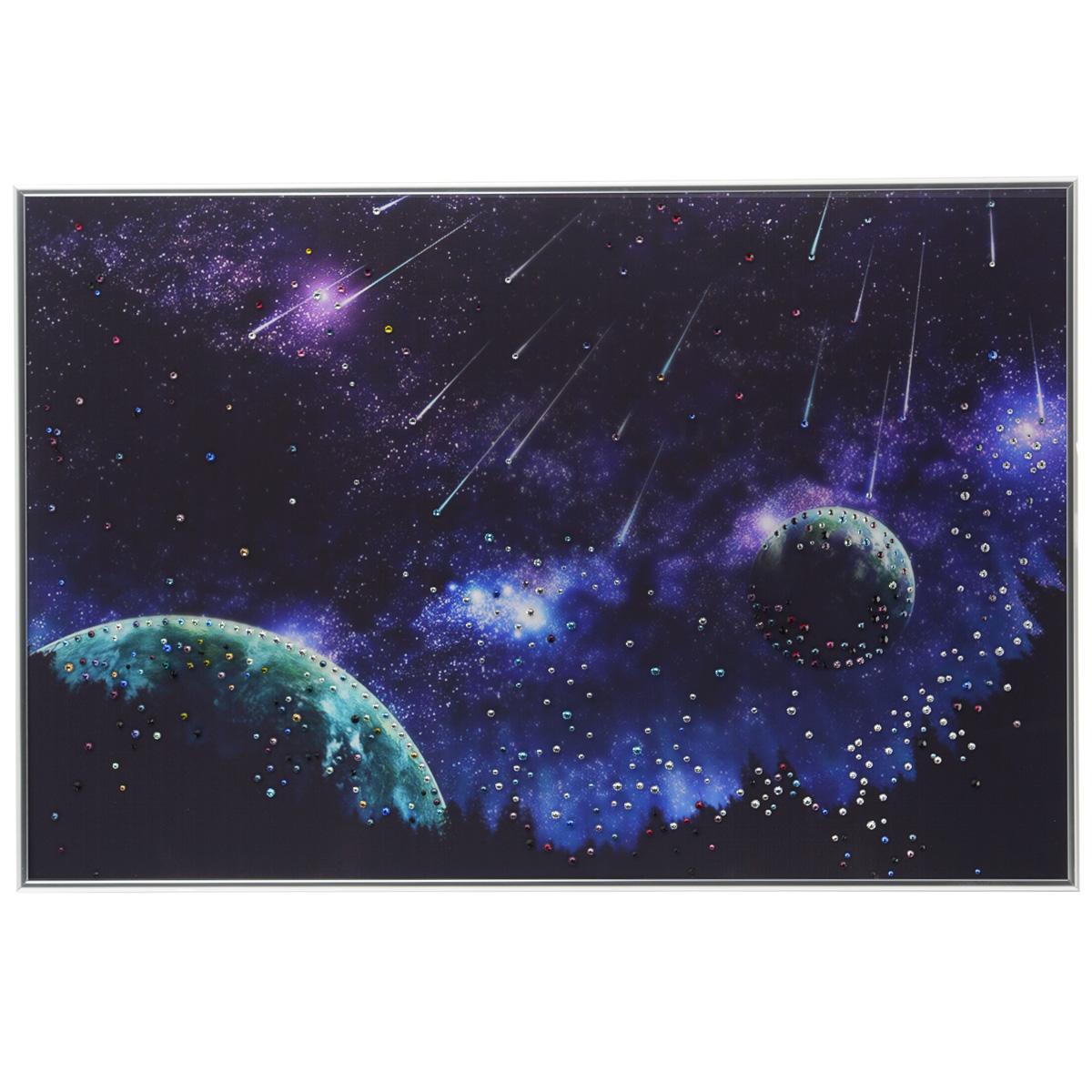 Картина с кристаллами Swarovski Звездопад, 60 см х 40 см картины в квартиру картина etude 2 102х130 см