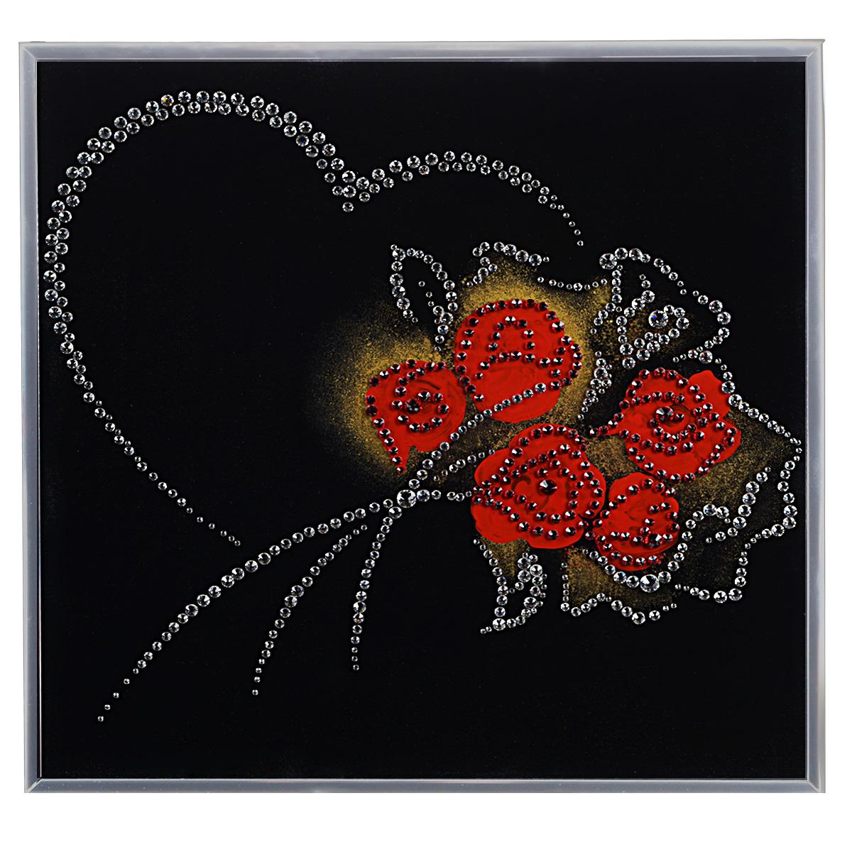 Картина с кристаллами Swarovski От всего сердца, 30 см х 30 смIDEA FL2-07Изящная картина в алюминиевой раме От всего сердца инкрустирована кристаллами Swarovski, которые отличаются четкой и ровной огранкой, ярким блеском и чистотой цвета. Идеально подобранная палитра кристаллов прекрасно дополняет картину. С задней стороны изделие оснащено специальной металлической петелькой для размещения на стене. Картина с кристаллами Swarovski элегантно украсит интерьер дома, а также станет прекрасным подарком, который обязательно понравится получателю. Блеск кристаллов в интерьере - что может быть сказочнее и удивительнее. Изделие упаковано в подарочную картонную коробку синего цвета и комплектуется сертификатом соответствия Swarovski.