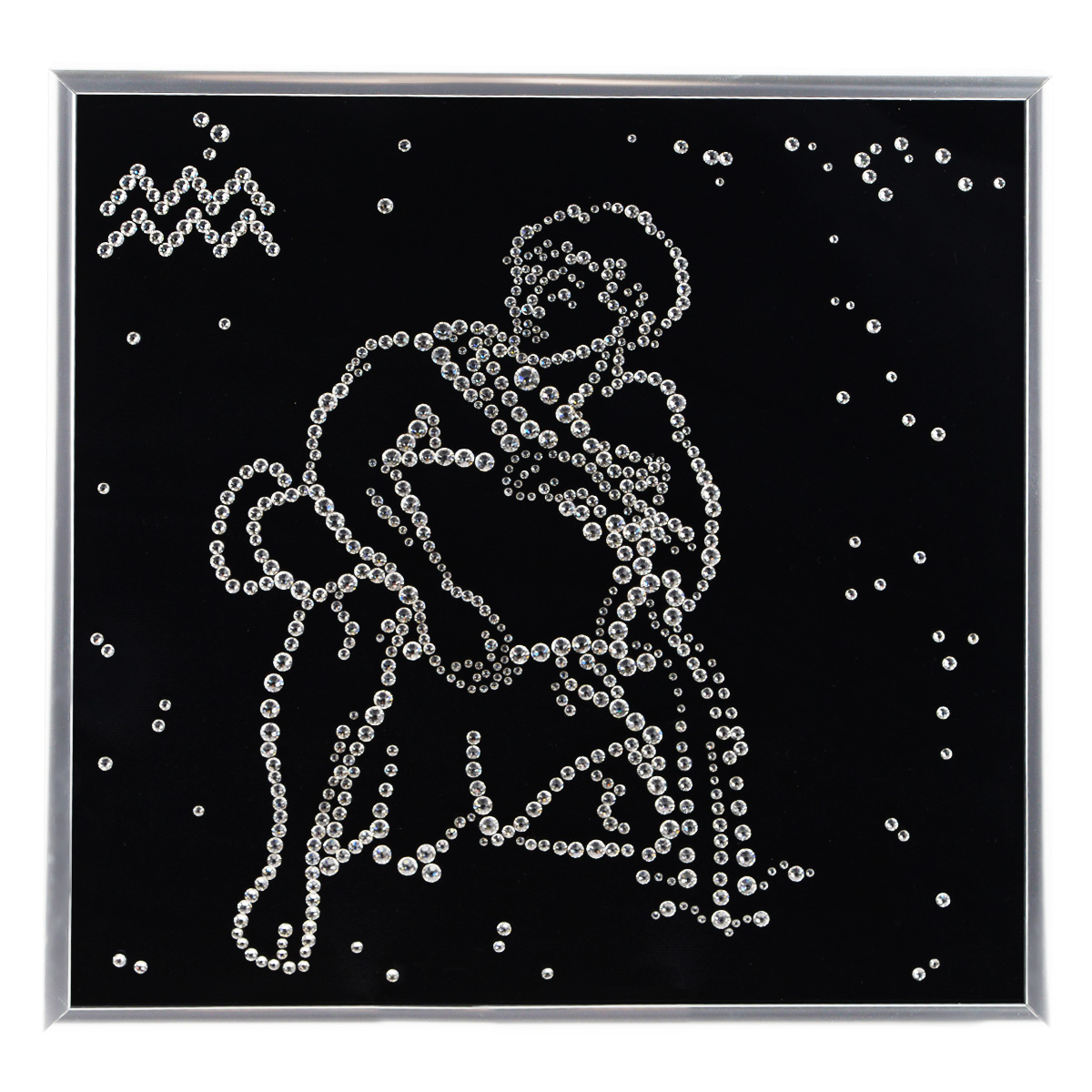 Картина с кристаллами Swarovski Знак зодиака. Водолей, 26 см х 26 см