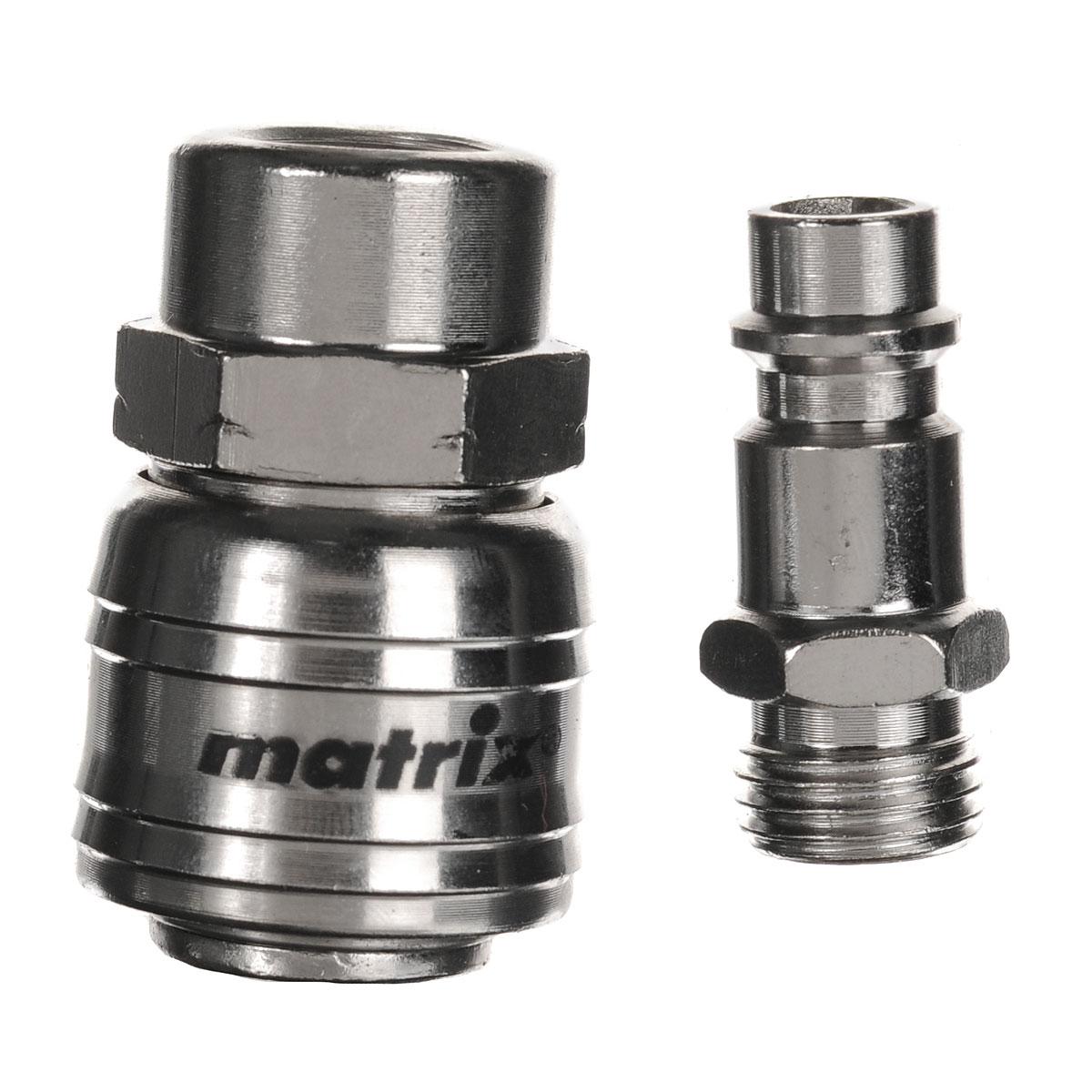 Набор переходников Matrix, внутренний диаметр 1/4, 2 шт13355Переходники Matrix изготовлены из высококачественного металла. Они применяются для обеспечения соединения разного типа креплений (резьбовых и быстросъемных).
