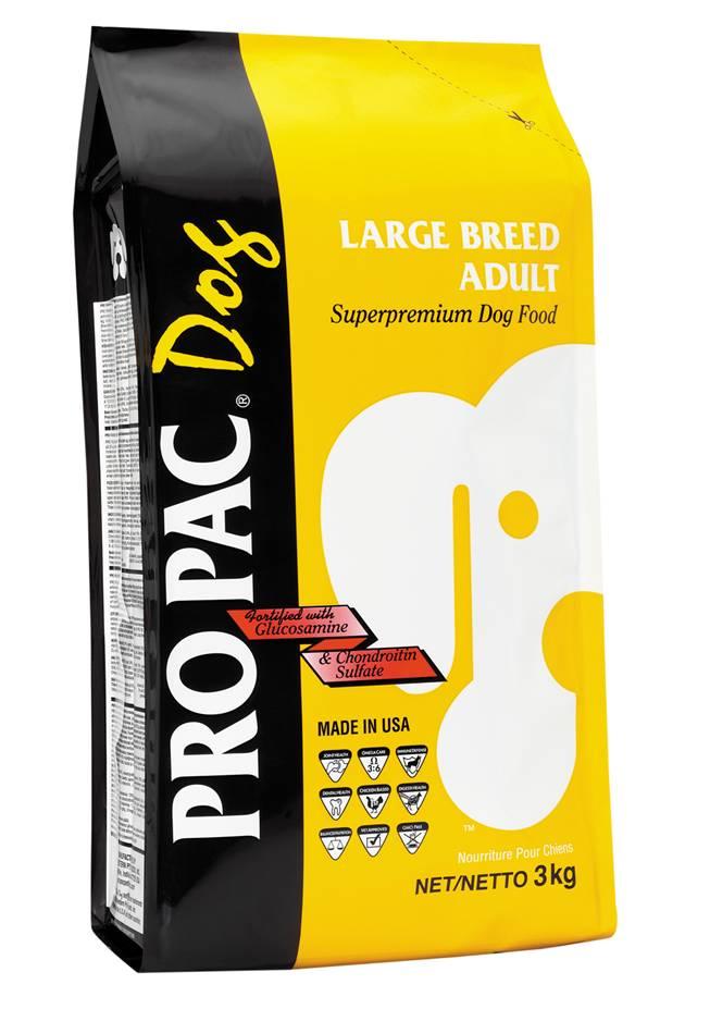 Корм сухой Pro Pac Large Breed Adult для собак крупных пород, с курицей, 3 кг pro pac dog large breed