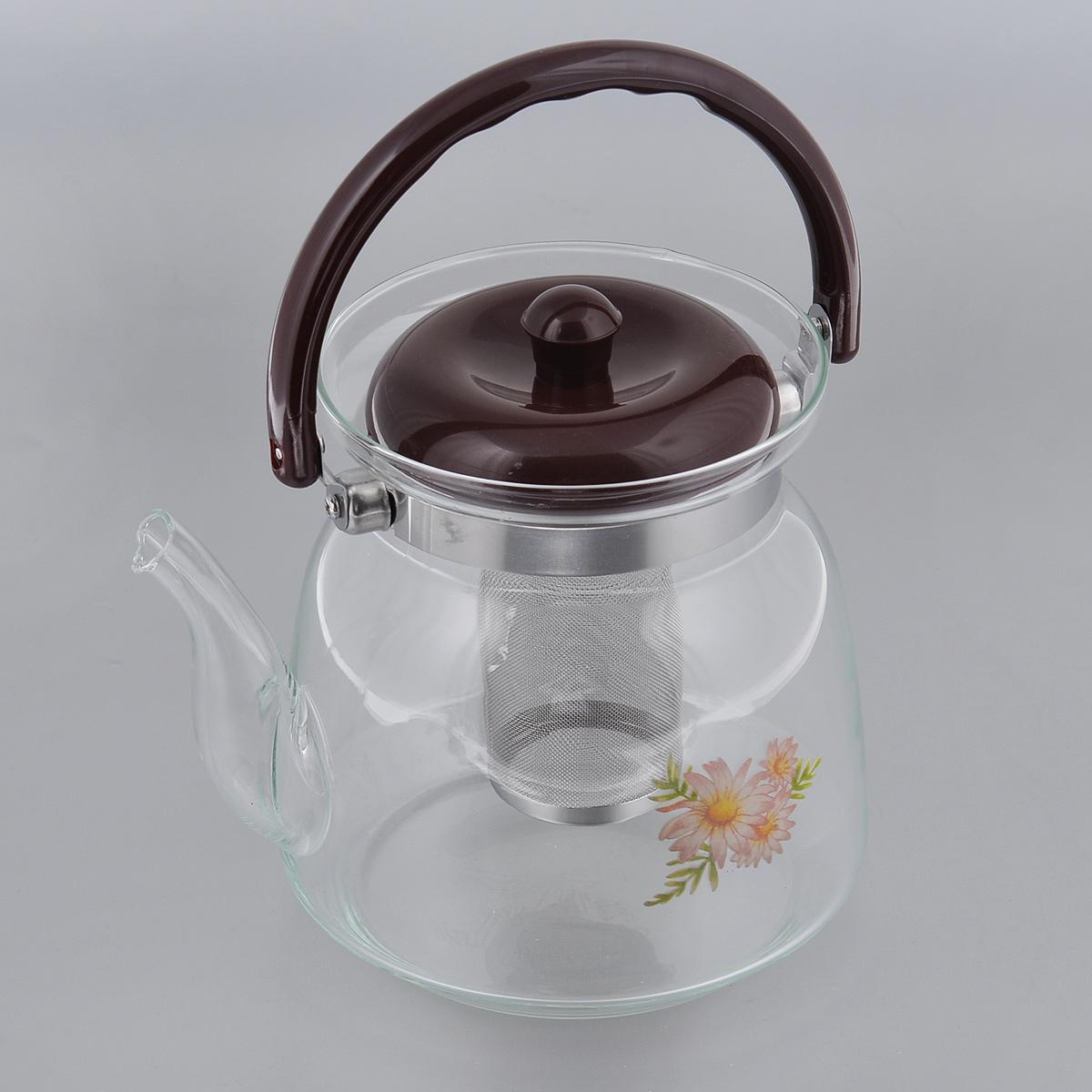 Чайник заварочный Bradex. TK 003868/5/4Заварочный чайник Bradex выполнен из высокопрочного термостойкого стекла, которое не потрескается даже от перепадов температур. Надежная и прочная крышка выполнена из качественного пластика, устойчивого к повреждениям. Чайник оснащен специальным фильтром, который задерживает чаинки и помогает вам получить на выходе вкусный и чистый ароматный напиток. Также предусмотрена удобная ручка.Благодаря своей конструкции такой чайник одновременно выполняет две функции: сквозь стенки такого чайника можно с легкостью разглядеть консистенцию и крепость завариваемого чая, а также такой вид чайника будет смотреться крайне эстетично на вашем столе.Диаметр чайника (по верхнему краю): 13 см. Высота чайника: 17 см. Высота фильтра: 9 см.