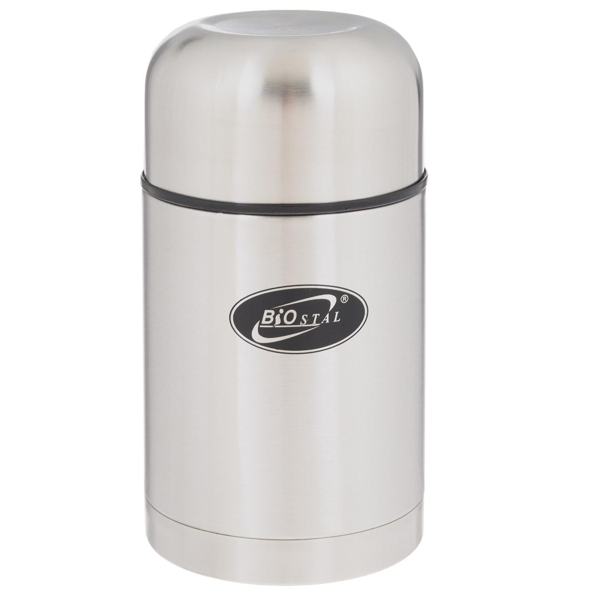 Термос BIOSTAL, в чехле, 750 мл. NT-750TB09-3411NПищевой термос с широким горлом BIOSTAL, изготовленный из высококачественной нержавеющей стали, относится к классической серии. Термосы этой серии, являющейся лидером продаж, просты в использовании, экономичны и многофункциональны. Термос с широким горлом предназначен для хранения горячей и холодной пищи, замороженных продуктов, мороженного, фруктов и льда и укомплектован пробкой с клапаном. Такая пробка обладает дополнительной теплоизоляцией и позволяет термосу дольше хранить тепло (до 24 часов), а клапан облегчает его открытие. Изделие также оснащено крышкой-чашкой и текстильным чехлом для хранения и переноски термоса. Легкий и прочный термос BIOSTAL сохранит ваши напитки горячими или холодными надолго.Высота (с учетом крышки): 19 см.Диаметр горлышка: 8 см.