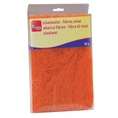 Сизаль Hobby Time, цвет: оранжевый (68), 30 г7705268Сизаль Hobby Time является необыкновенным аксессуаром для флористики и упаковки подарков. Это тонкие, прочные волокна, которые изготовляют из листьев агавы. Сизаль окрашивается в различные цвета и затем из его волокон плетут декоративные веревки, украшают металлические каркасы для букетов, используют его в изготовлении корзин. В подарочной упаковке сизаль удачно используют в изготовлении оригинального оберточного материала. Также сизаль используют как наполнитель в коробках. Во многих флористических композициях сизаль создает легкое облако над букетом, придавая воздушность и свежесть цветам. В рождественских декорациях сизаль подчеркивает зимнее настроение коллекций. Такой материал можно комбинировать с различными аксессуарами, как с природными - веточки, шишки, скорлупа, кора, перья так и с искусственными - стразы, бисер, бусины. Уникальная токая структура волокон позволят создавать новые формы. Вес: 30 г.