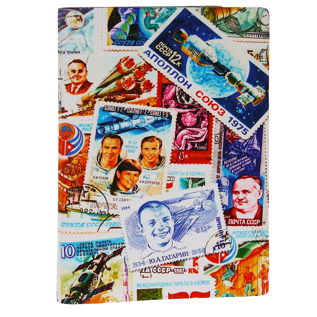 Обложка для автодокументов Космос (марки). AUTOZAM287AUTOZAM287Обложка для автодокументов Mitya Veselkov Космос. Марки изготовлена из прочного ПВХ и оформлена изображениями почтовых марок с космической тематикой. На внутреннем развороте имеются съемный блок из шести прозрачных файлов из мягкого пластика для водительских документов, один из которых формата А5, а также два боковых кармашка для визиток или банковских карт.Стильная обложка не только поможет сохранить внешний вид ваших документов и защитит их от грязи и пыли, но и станет аксессуаром, который подчеркнет вашу яркую индивидуальность.
