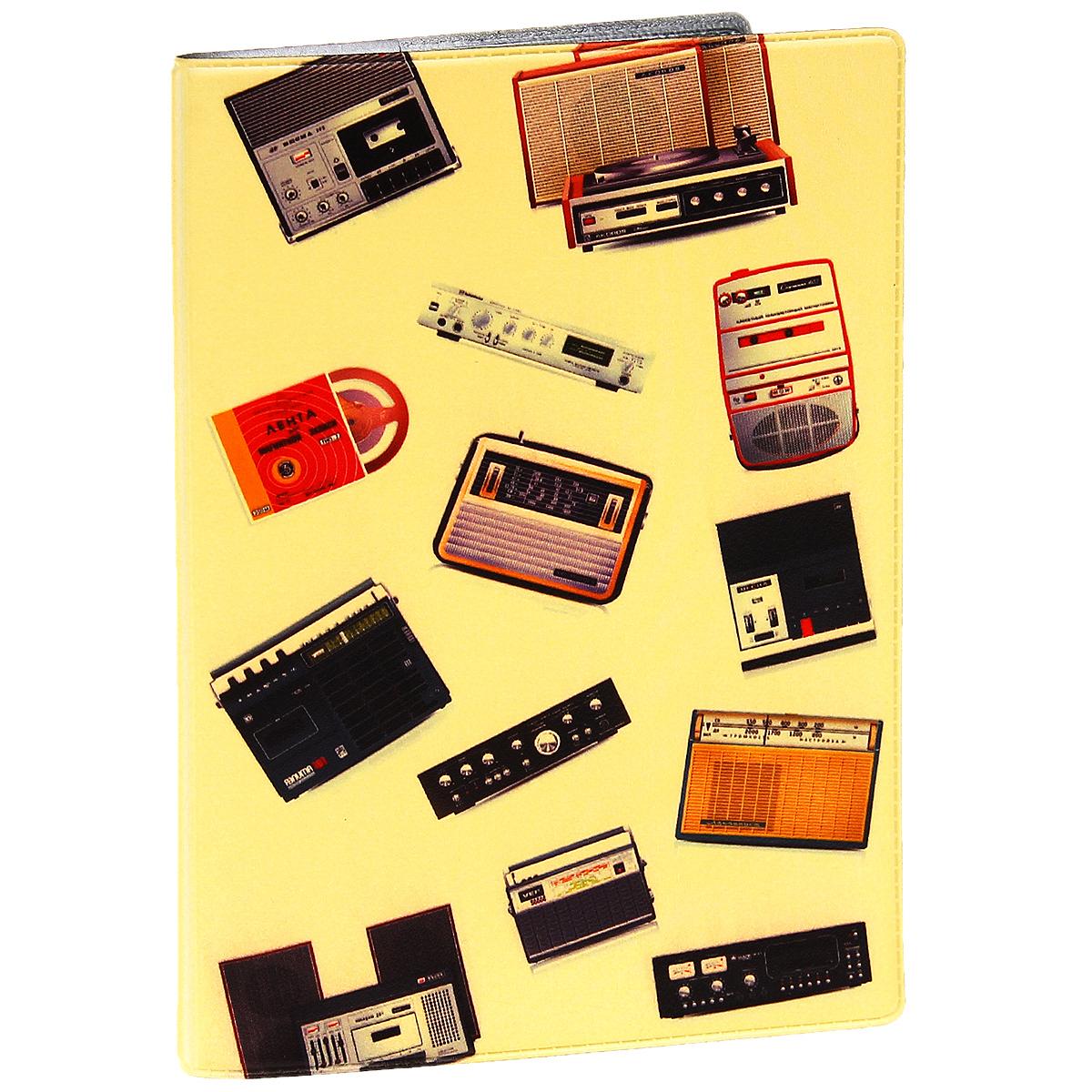 Обложка для паспорта Радиоприемники. OZAM279100Обложка для паспорта Mitya Veselkov Радиоприемники выполнена из прочного ПВХ и оформлена изображением звуковой аппаратуры. Такая обложка не только поможет сохранить внешний вид ваших документов и защитит их от повреждений, но и станет стильным аксессуаром, идеально подходящим вашему образу.Яркая и оригинальная обложка подчеркнет вашу индивидуальность и изысканный вкус. Обложка для паспорта стильного дизайна может быть достойным и оригинальным подарком.