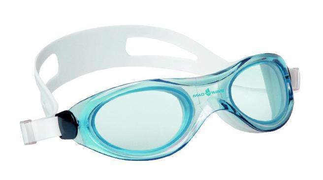 Маска для плавания MadWave Panoramic, цвет: голубой avengers маска captain america цвет голубой
