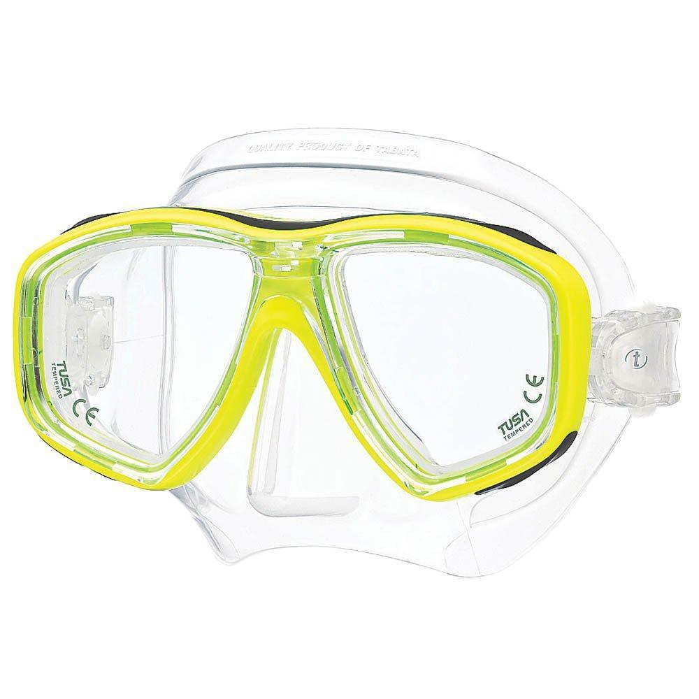 Маска для плавания Tusa Geminus, цвет: желтыйTS M-28 FYВ данной маске применена недавно разработанная низкопрофильная пряжка, которая крепится прямо к силиконовому обтюратору. В результате получается компактная, легкая и технологически более совершенная модель маски, которую можно просто и быстро настроить под себя, добившись оптимального прилегания.Обтюратор маски М-28 имеет скругленные края со специальной посадкой обтюратора по линиям наилучшего прилегания к лицу.В маске М-28 применен 3D-ремешок новой конструкции, который точно повторяет затылочный изгиб и обеспечивает великолепное прилегание.Возможна установка диоптрийных линз (приобретаются отдельно). Характеристики: Цвет: желтый. Ширина оправы маски: 15,5 см. Размер упаковки: 20 см x 10,5 см x 11 см. Материал: силикон, стекло, пластик. Артикул: TS M-28 FY.Производитель: Тайвань.