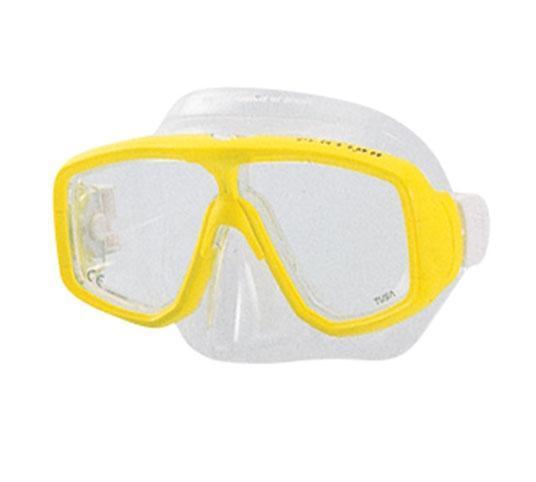 Маска для плавания Tusa Platina, цвет: желтыйTS M-32 BKКлассическая двухлинзовая маска с небольшим подмасочным пространством. Узкая перемычка на переносице исключает помехи в поле зрения. Возможна установка диоптрийных линз (приобретаются отдельно). Характеристики: Цвет: желтый. Ширина оправы маски: 16 см. Размер упаковки: 20 см x 10,5 см x 11 см. Материал: силикон, стекло, пластик. Артикул: TS M-20 FY.Производитель: Тайвань.