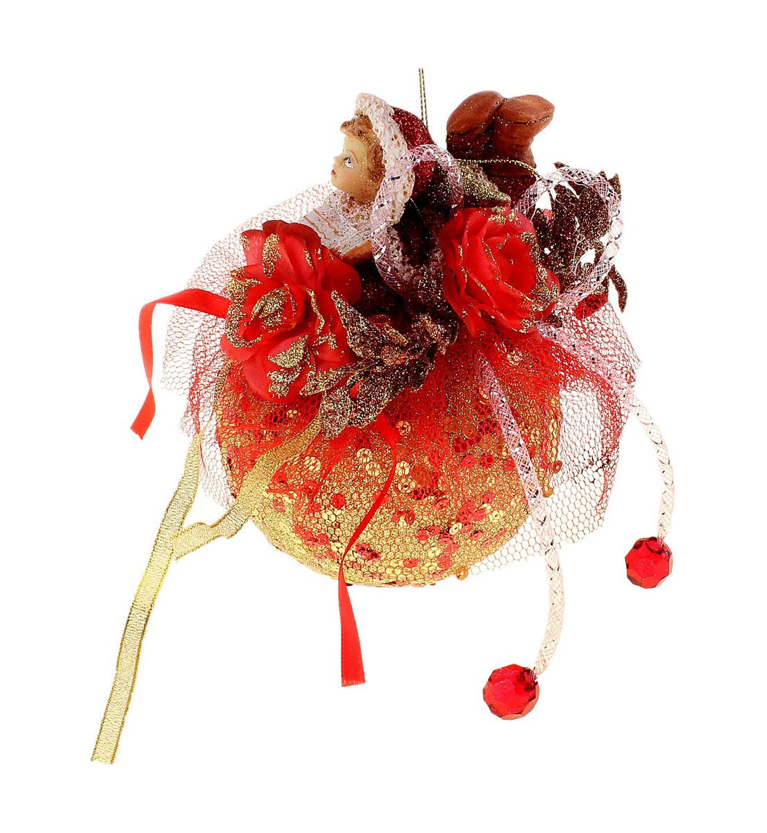 Новогоднее подвесное украшение Sima-land Девочка на шаре, диаметр 10 смRSP-202SНовогоднее украшение Sima-land Девочка на шаре отлично подойдет для декорации вашего дома и новогодней ели. Игрушка выполнена из пластика в виде большого шара, декорированного пайетками, текстильной сеткой и лентами, цветами, листьями и декоративными камнями. Сверху на шаре располагается фигурка лежащей с книгой девочки из полистоуна. Украшение оснащено текстильной петелькой для подвешивания. Елочная игрушка - символ Нового года. Она несет в себе волшебство и красоту праздника. Создайте в своем доме атмосферу веселья и радости, украшая всей семьей новогоднюю елку нарядными игрушками, которые будут из года в год накапливать теплоту воспоминаний. Коллекция декоративных украшений из серии Зимнее волшебство принесет в ваш дом ни с чем не сравнимое ощущение праздника!