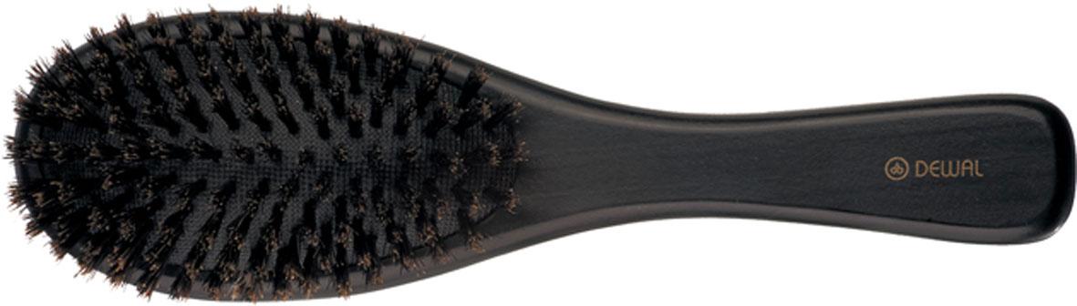 Dewal Расческа массажная, с натуральной щетиной. BR-WC618AC-2233_серыйВ ассортименте торговой марки Dewal (Деваль) имеются расчески на все случаи жизни, с помощью которых можно выполнять стрижки, укладки, модельные причёски и другие манипуляции с волосами. Вообще расческа для волос считается для парикмахера самым простым, но при этом незаменимым инструментом. Деревянная щетка на подушке с натуральной щетиной в 9 рядов идеальна для расчесывания любых волос, включая вьющиеся (но не рекомендуется для очень тонких волос). Делает волосы гладкими, блестящими, создает эффект полировки. Натуральная щетина в 9 рядов, легкий вес создает дополнительный бонус при формировании прически. Продуманная конструкция, эргономичный дизайн обеспечивают комфортную работу парикмахера. Расчёски с лёгкостью скользят по волосам, удобно ложатся в руку. Товар сертифицирован.