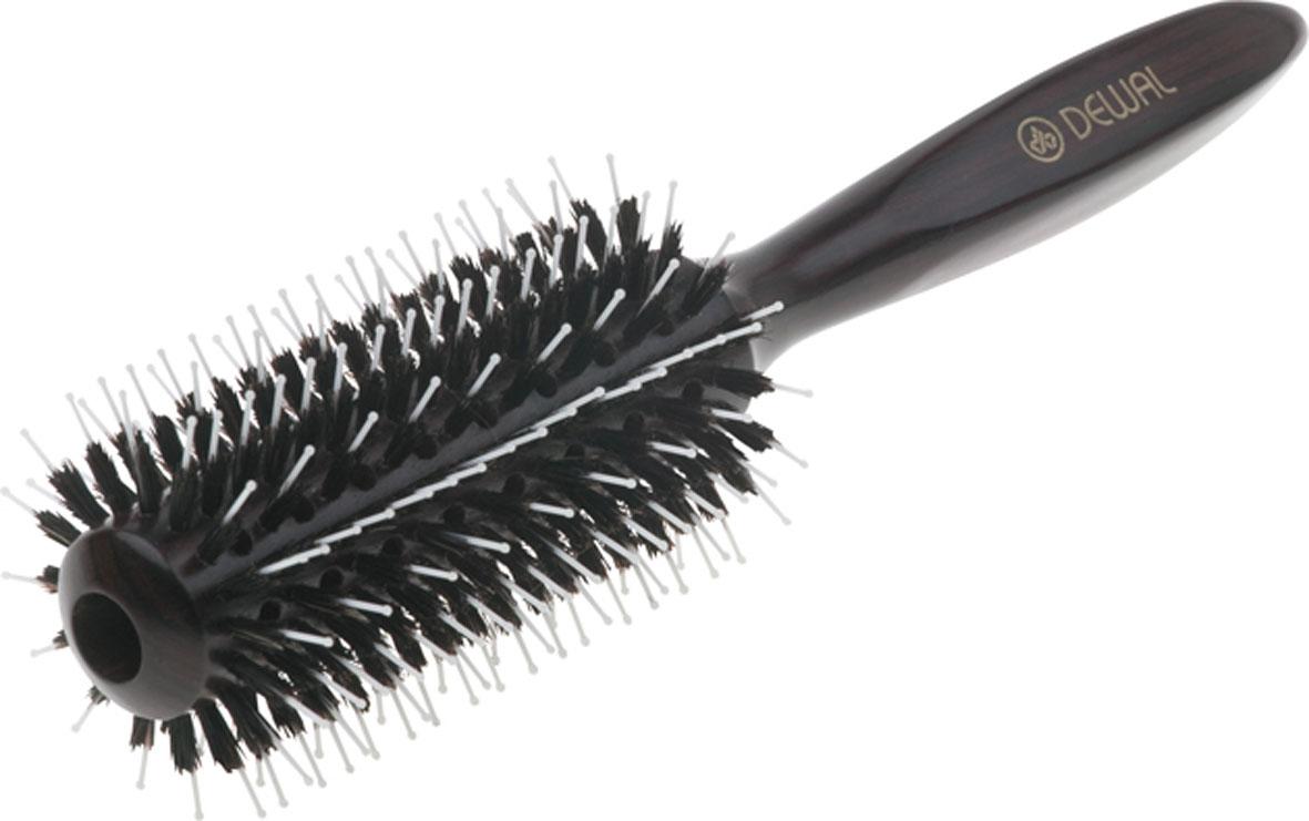Dewal Расческа круглая с пластиковым штифтом и натуральной щетиной. BR2060NO-HH-011012В ассортименте торговой марки Dewal имеются расчески на все случаи жизни, с помощью которых можно выполнять стрижки, укладки, модельные причёски и другие манипуляции с волосами. Вообще расческа для волос считается для парикмахера самым простым, но при этом незаменимым инструментом. Брашинг из благородного темного дерева круглой формы с комбинированной щетиной( натуральная щетина + пластиковый штифт)обеспечивает более идеальное вытягивание волос(также для выпрямления вьющихся волос),удобная деревянная ручка и легкий вес создает дополнительное удобство при формировании прически. Продувеая. Продуманная конструкция, эргономичный дизайн обеспечивают комфортную работу парикмахера. Расчёски с лёгкостью скользят по волосам, удобно ложатся в руку. Товар сертифицирован.