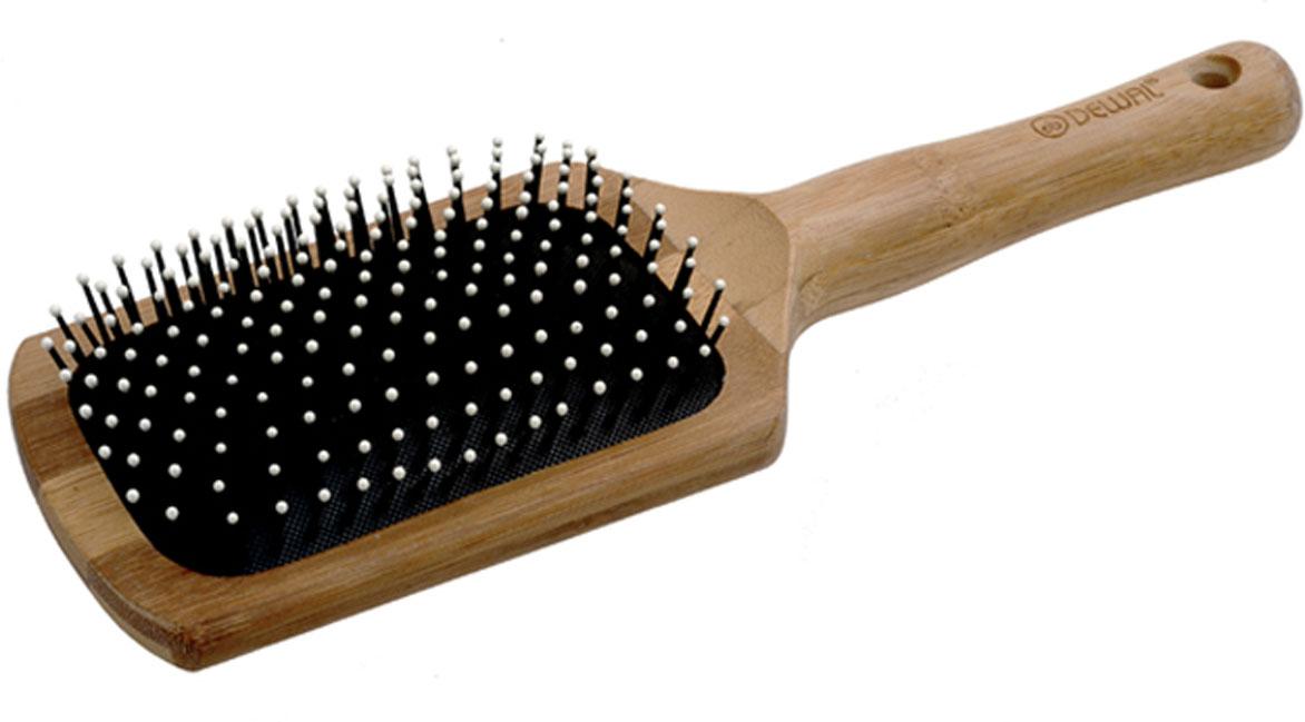Dewal Расческа массажная Bamboo, с пластиковыми зубцами. BRBAM69993B9612SV-6.5В ассортименте торговой марки Dewal (Деваль) имеются расчески на все случаи жизни, с помощью которых можно выполнять стрижки, укладки, модельные причёски и другие манипуляции с волосами. Вообще расческа для волос считается для парикмахера самым простым, но при этом незаменимым инструментом. Массажная щетка с пластиковыми зубцами, облегченная, водостойкая и антибактериальная ручка из дерева бамбука идеальна для расчесывания волос. Продуманная конструкция, эргономичный дизайн обеспечивают комфортную работу парикмахера. Расчёски с лёгкостью скользят по волосам, удобно ложатся в руку. Товар сертифицирован.