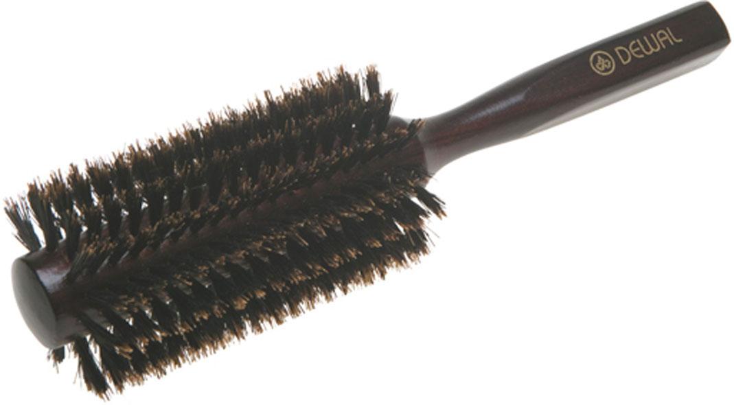 Dewal Расческа круглая, с натуральной щетиной. BRT1214Satin Hair 7 BR730MNВ ассортименте торговой марки Dewal (Деваль) имеются расчески на все случаи жизни, с помощью которых можно выполнять стрижки, укладки, модельные причёски и другие манипуляции с волосами. Вообще расческа для волос считается для парикмахера самым простым, но при этом незаменимым инструментом. Брашинг круглой формы скомбинированной щетиной (натуральная щетина + пластиковый штифт) обеспечивает более идеальное вытягивание волос (также для выпрямления вьющихся волос), эргономичная ручка создает дополнительное удобство при формировании прически. Не продувная. Продуманная конструкция, эргономичный дизайн обеспечивают комфортную работу парикмахера. Расчёски с лёгкостью скользят по волосам, удобно ложатся в руку. Товар сертифицирован.