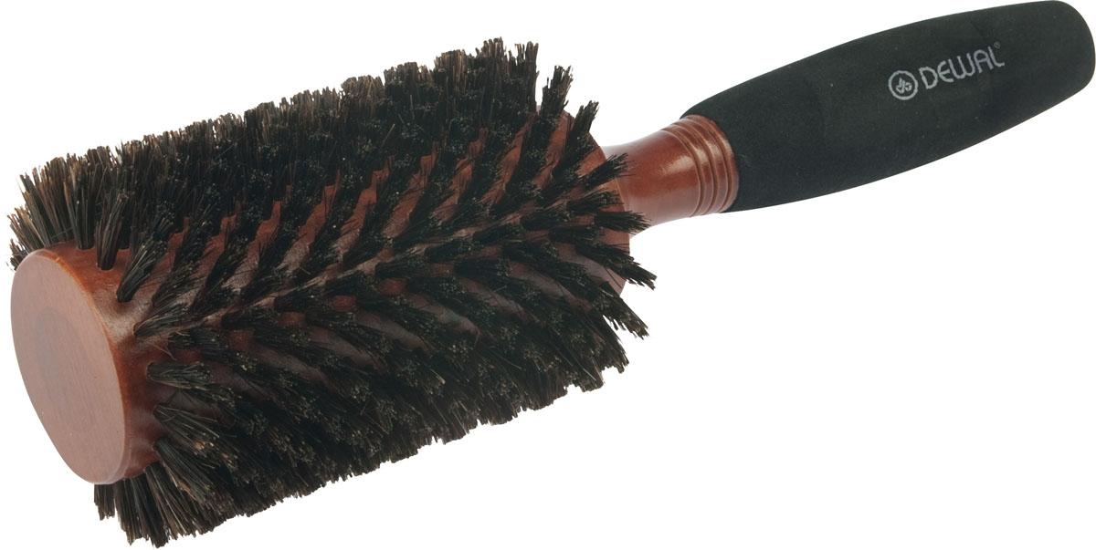 Dewal Расческа круглая деревянная с натуральной щетиной. BRWC605FS-00897В ассортименте торговой марки Dewal имеются расчески на все случаи жизни, с помощью которых можно выполнять стрижки, укладки, модельные причёски и другие манипуляции с волосами. Вообще расческа для волос считается для парикмахера самым простым, но при этом незаменимым инструментом. Брашинг круглой формы с натуральной щетиной идеален для выпрямления волос (также для выпрямления вьющихся волос), облегченная мягкая ручка создает дополнительное удобство при формировании прически. Не продувная. Продуманная конструкция, эргономичный дизайн обеспечивают комфортную работу парикмахера. Расчёски с лёгкостью скользят по волосам, удобно ложатся в руку. Товар сертифицирован.