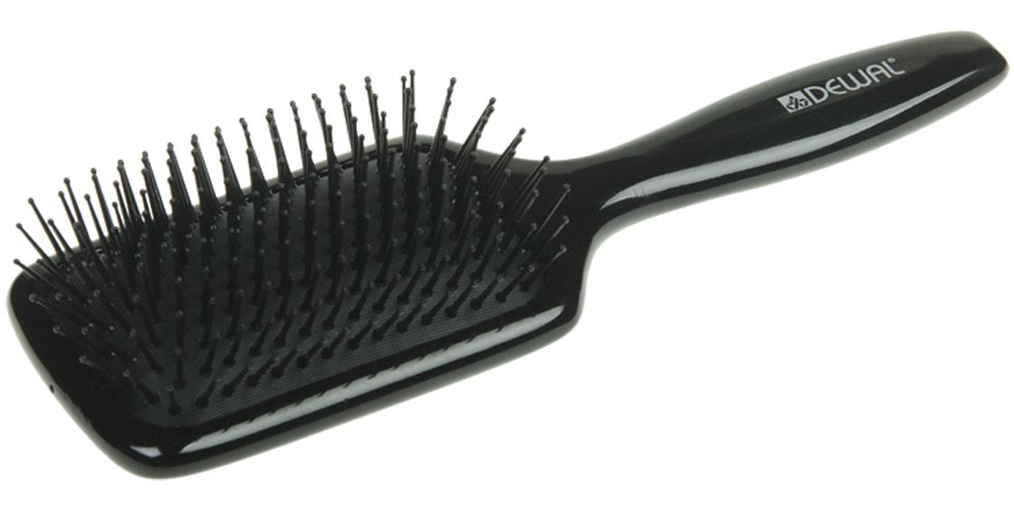 Dewal Расческа массажная Black, с пластиковыми зубцами. BRWT61Satin Hair 7 BR730MNВ ассортименте торговой марки Dewal (Деваль) имеются расчески на все случаи жизни, с помощью которых можно выполнять стрижки, укладки, модельные причёски и другие манипуляции с волосами. Вообще расческа для волос считается для парикмахера самым простым, но при этом незаменимым инструментом. Массажная щетка с пластиковыми штифтами идеальна для расчесывания любых волос и массажа кожи головы. Продуманная конструкция, эргономичный дизайн обеспечивают комфортную работу парикмахера. Расчёски с лёгкостью скользят по волосам, удобно ложатся в руку. Товар сертифицирован.