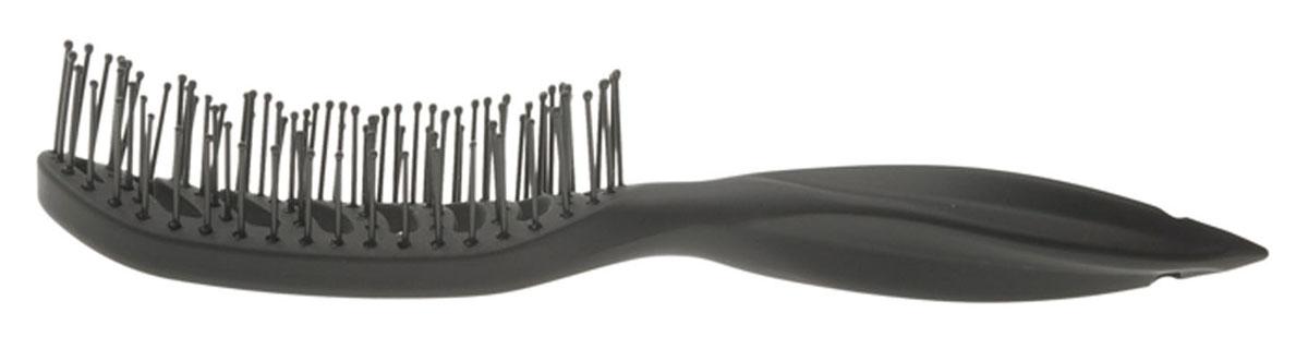 Dewal Расческа для укладки вогнутая. BR69539 blackFS-00897В ассортименте торговой марки Dewal имеются расчески на все случаи жизни, с помощью которых можно выполнять стрижки, укладки, модельные причёски и другие манипуляции с волосами. Вообще расческа для волос считается для парикмахера самым простым, но при этом незаменимым инструментом. Щетка для укладки с пластиковыми штифтами идеальна для создания прикорневого объема, расчесывания. Вогнутая форма, прорезинено покрытие Soft Touch добавляют бонус при формировании прически. Продуманная конструкция, эргономичный дизайн обеспечивают комфортную работу парикмахера. Расчёски с лёгкостью скользят по волосам, удобно ложатся в руку. Товар сертифицирован.