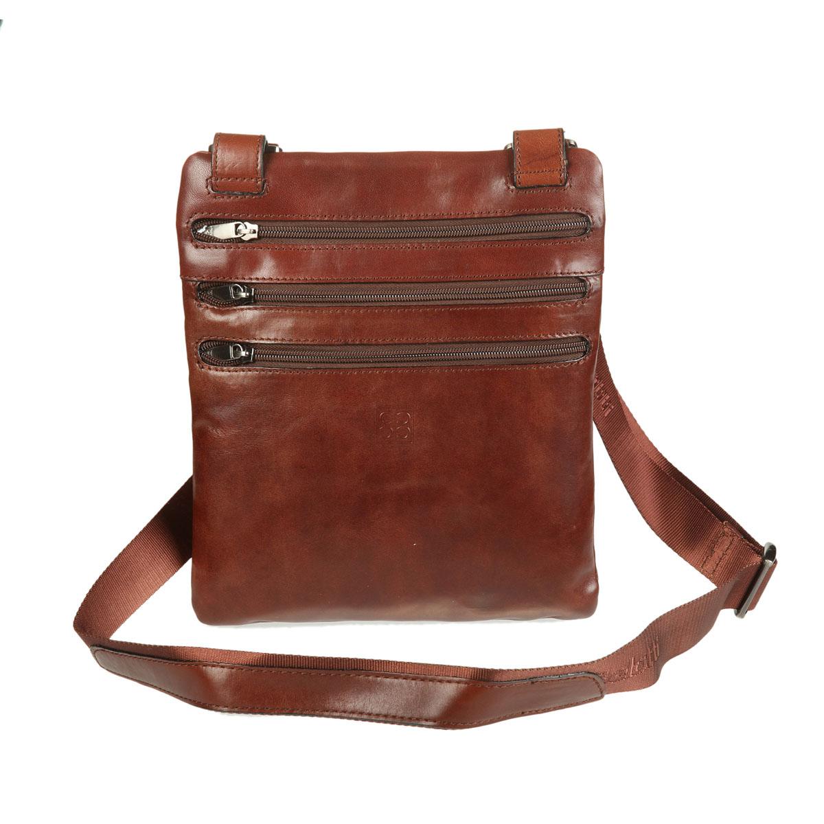 Сумка-планшет мужская Sergio Belotti, цвет: коричневый. 932723008Компактная мужская сумка-планшет Sergio Belotti изготовлена из натуральной высококачественной кожи. Лицевая сторона оформлена тиснением в виде логотипа бренда. В сумке одно отделение, закрывающееся на молнию и дополненное двумя кармашками (один предназначен для телефона). С лицевой и тыльной стороны - по два врезных кармана на молнии, один из которых содержит прорези для визиток. Длинный регулируемый ремень позволит носить модель через плечо. К сумке прилагается чехол. Изделие упаковано в фирменную коробку.Сдержанность и продуманный дизайн сумки-планшета добавят элегантности в образ и подчеркнут ваш безупречный вкус.