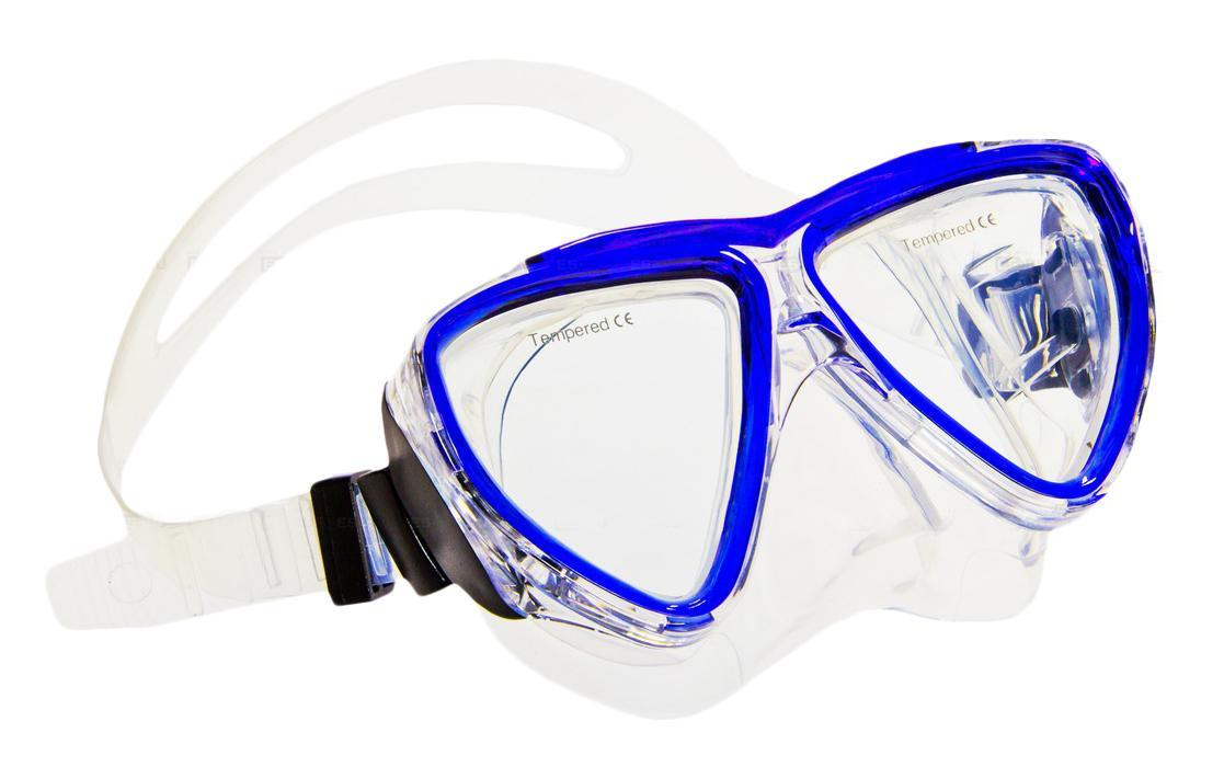 Маска для плавания Submarine, детская, цвет: синий