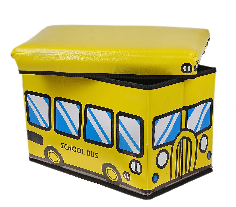 Коробка для хранения Sima-land Школьный автобус, 40 х 25 х 25 смNLED-420-1.5W-RКоробка для хранения Sima-land Школьный автобус изготовлена из искусственной кожи и картона. Коробка имеет съемную, мягкую крышку. Материал коробки позволяет сохранять естественную вентиляцию, а воздуху свободно проникать внутрь, не пропуская пыль. Благодаря специальным вставкам, коробка прекрасно держит форму, что позволяет ее использовать как дополнительное посадочное место для ребенка. Эстетичный дизайн коробки понравиться вашему ребенку. Компактные габариты коробки не загромождают помещение. Коробку можно хранить в обычном шкафу. Внутренняя емкость позволяет хранить внутри игрушки, книжки и прочие предметы. Мобильность конструкции обеспечивает складывание и раскладывание одним движением.Коробка Sima-land Школьный автобус поможет хранить все игрушки в одном месте, а также защитить их от пыли, грязи и влаги. Размер коробки: 40 см х 25 см х 25 см.