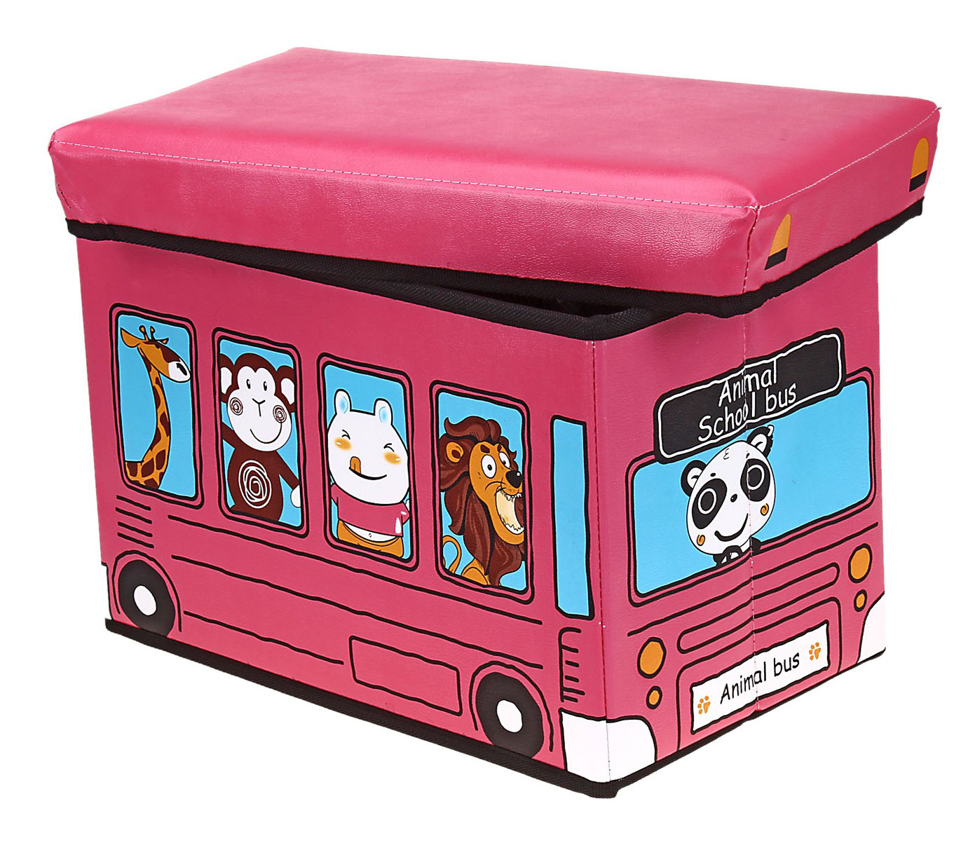 Коробка для хранения Sima-land Автобус с животными, цвет: розовый, 40 см х 25 см х 25 см10850/1W GOLD IVORYКоробка для хранения Sima-land Автобус с животными изготовлена из искусственной кожи и картона. Коробка имеет съемную, мягкую крышку. Материал коробки позволяет сохранять естественную вентиляцию, а воздуху свободно проникать внутрь, не пропуская пыль. Благодаря специальным вставкам, коробка прекрасно держит форму, что позволяет ее использовать как дополнительное посадочное место для ребенка. Эстетичный дизайн коробки понравиться вашему ребенку. Компактные габариты коробки не загромождают помещение. Коробку можно хранить в обычном шкафу. Внутренняя емкость позволяет хранить внутри игрушки, книжки и прочие предметы. Мобильность конструкции обеспечивает складывание и раскладывание одним движением.Коробка Sima-land Автобус с животными поможет хранить игрушки все в одном месте, а также защитить их от пыли, грязи и влаги. Размер коробки: 40 см х 25 см х 25 см.