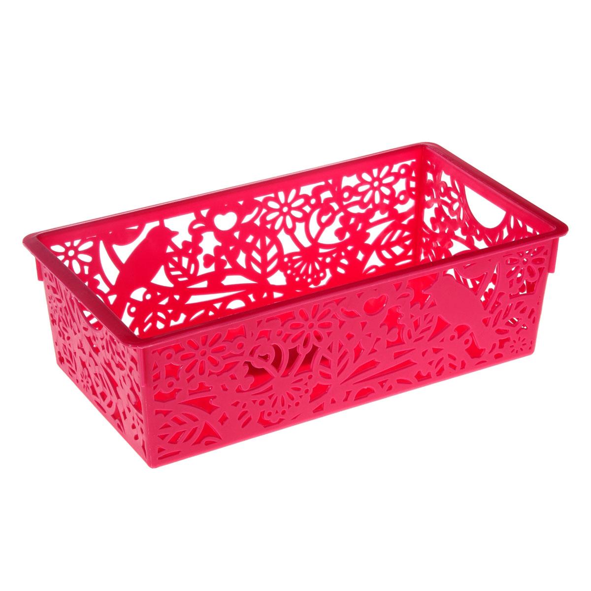 Корзина для мелочей Птицы, 14,5*27,5*8,5 см, цвет: розовый, 799920V4140/1SКорзина для мелочей Птицы, 14,5*27,5*8,5 см, 799920 Материал: Пластик