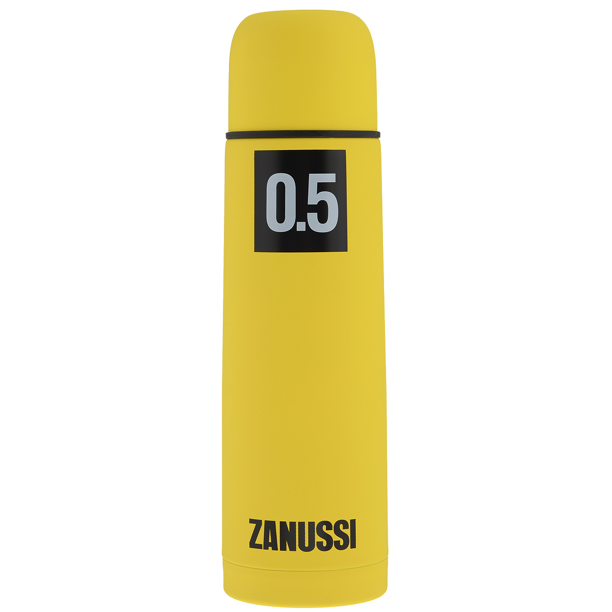 Термос Zanussi, цвет: желтый, 500 мл115510Термос с узким горлом Zanussi, изготовленный из высококачественной нержавеющей стали 18/10, является простым в использовании, экономичным и многофункциональным. Корпус изделия оснащен резиновым покрытием, благодаря чему термос практически невозможно разбить, он защищен от сколов. Термос с двухстеночной вакуумной изоляцией, предназначенный для хранения горячих и холодных напитков (чая, кофе), сохраняет их до 12 часов горячими и холодными в течении 24 часов. Изделие укомплектовано пробкой с кнопкой. Такая пробка удобна в использовании и позволяет, не отвинчивая ее, наливать напитки после простого нажатия. Изделие также оснащено крышкой-чашкой. Легкий и прочный термос Zanussi сохранит ваши напитки горячими или холодными надолго.