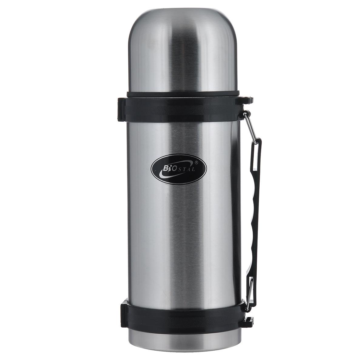 Термос BIOSTAL, 1 л. NY-1000-2FEAST 5Термос с узким горлом BIOSTAL, изготовленный из высококачественной нержавеющей стали, относится к классической серии. Термосы этой серии, являющейся лидером продаж, просты в использовании, экономичны и многофункциональны. Термос предназначен для хранения горячих и холодных напитков (чая, кофе) и укомплектован пробкой с кнопкой. Такая пробка удобна в использовании и позволяет, не отвинчивая ее, наливать напитки после простого нажатия. Изделие также оснащено крышкой-чашкой, и удобной пластиковой ручкой. Легкий и прочный термос BIOSTAL сохранит ваши напитки горячими или холодными надолго.