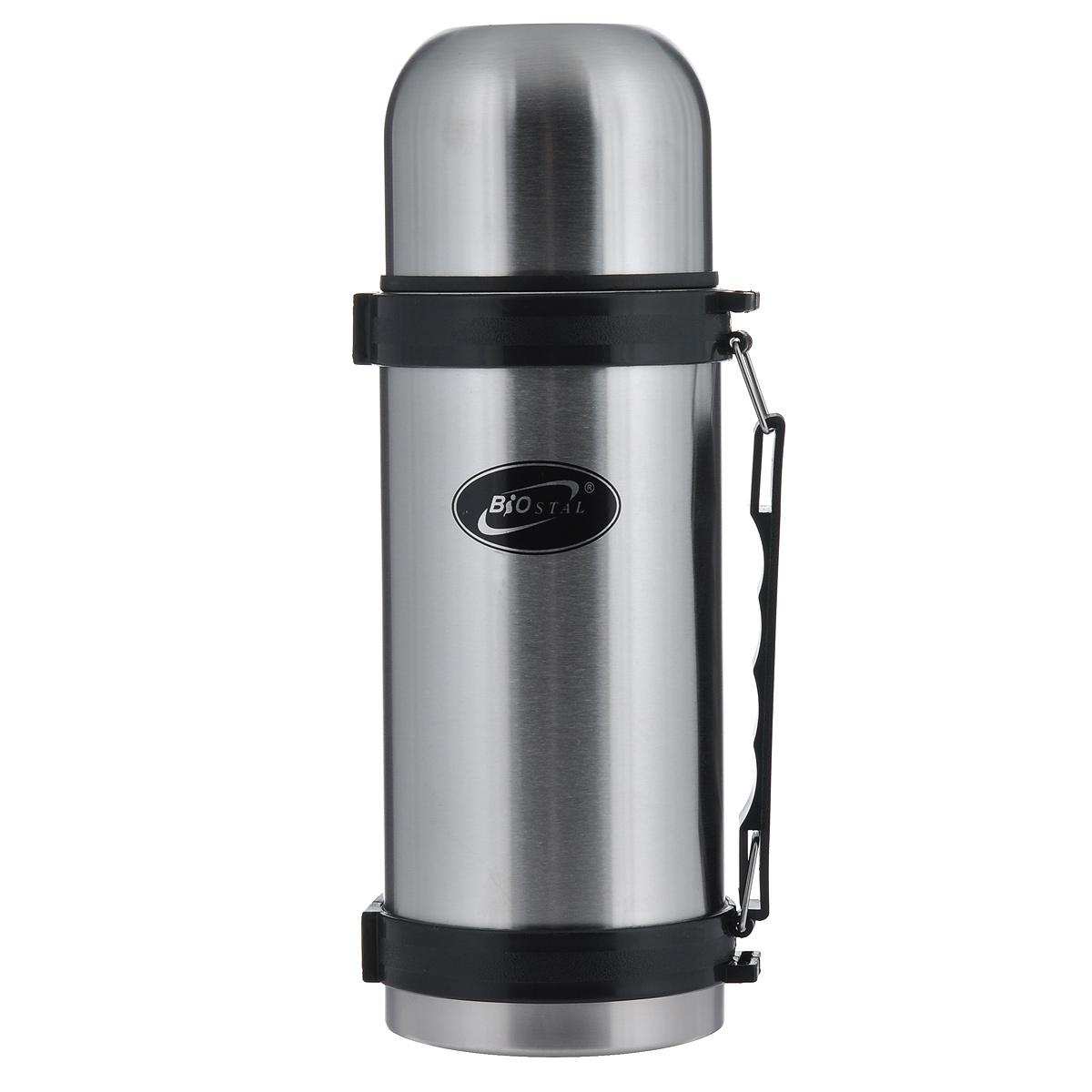 Термос BIOSTAL, 1,2 л. NY-1200-2NRP-1200Термос с узким горлом BIOSTAL, изготовленный из высококачественной нержавеющей стали, относится к классической серии. Термосы этой серии, являющейся лидером продаж, просты в использовании, экономичны и многофункциональны. Термос предназначен для хранения горячих и холодных напитков (чая, кофе) и укомплектован пробкой с кнопкой. Такая пробка удобна в использовании и позволяет, не отвинчивая ее, наливать напитки после простого нажатия. Изделие также оснащено крышкой-чашкой, и удобной пластиковой ручкой. Легкий и прочный термос BIOSTAL сохранит ваши напитки горячими или холодными надолго.