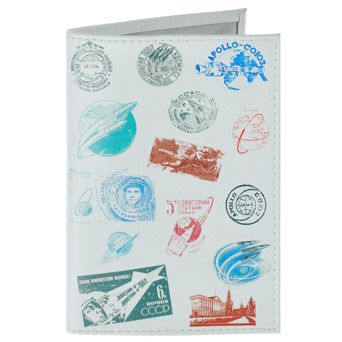 Обложка для паспорта Штампики о космосе. OK278GPGE00-000000-D6604O-K102Обложка для паспорта Mitya Veselkov Штампики о космосе выполнена из натуральной кожи и оформлена изображениями оттисков штампиков с космической тематикой. Такая обложка не только поможет сохранить внешний вид ваших документов и защитит их от повреждений, но и станет стильным аксессуаром, идеально подходящим вашему образу.Яркая и оригинальная обложка подчеркнет вашу индивидуальность и изысканный вкус. Обложка для паспорта стильного дизайна может быть достойным и оригинальным подарком.