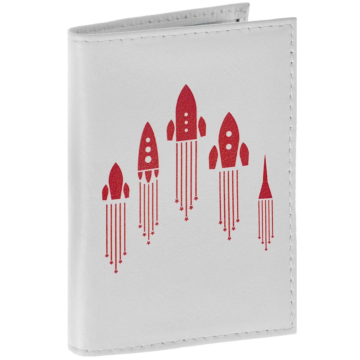 Обложка для паспорта Ракеты. OK286PV-NK017-OP0Z57-000Обложка для паспорта Mitya Veselkov Ракеты выполнена из натуральной кожи и оформлена изображением ракет. Такая обложка не только поможет сохранить внешний вид ваших документов и защитит их от повреждений, но и станет стильным аксессуаром, идеально подходящим вашему образу.Яркая и оригинальная обложка подчеркнет вашу индивидуальность и изысканный вкус. Обложка для паспорта стильного дизайна может быть достойным и оригинальным подарком.