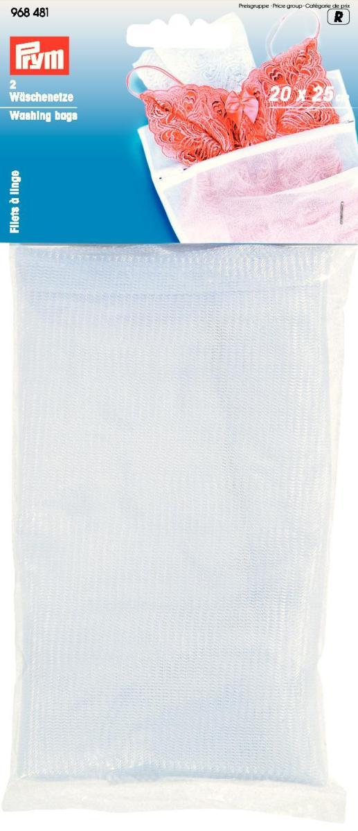 Мешки для стирки Prym, цвет: белый, 20 х 25 см, 2 штK100Мешки Prym на молнии для стирки белья изготовлены из полиэстера. Предназначены для бережной стирки, отжима и сушки белья в стиральной машине. В комплекте - 2 мешка. Они предохраняют вещи от зацепок и растягивания, исключают попадание мелких вещей и элементов одежды в механизм машины.Комплектация: 2 шт.Размер: 20 см х 25 см.
