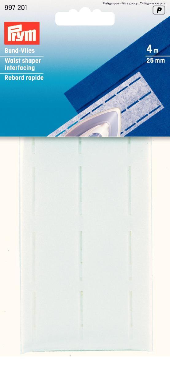 Лента флизелиновая Prym для пояса, цвет: белый, ширина 2,5 см, длина 4 мC0044702Флизелиновая лента Prym, изготовленная из 60% полиэстера и 40% целлюлозы, предназначена для обработки поясов, срезов, шлиц, обтачек и листочек. Лента оснащена тремя перфорированными линиями. Перфорированные ленты гарантируют рациональность обработки и безукоризненный вид пояса. Простота перегиба вдоль линии перфорации значительно облегчает обработку. Флизелин хорошо зарекомендовал себя в перфорированных лентах. Он придает поясу стабильность, предохраняя его от растяжения. Ширина: 2,5 см.Длина: 4 м.