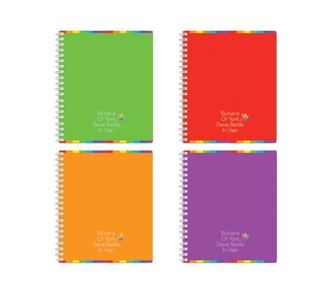 Полиграфика Тетрадь на спирали, 60л Rainbow, цвет: фиолетовыйDR-AN 2401/5Обложка:картон мелованный 170 г/м2. Блок: бумага офсетная 55 г/м2