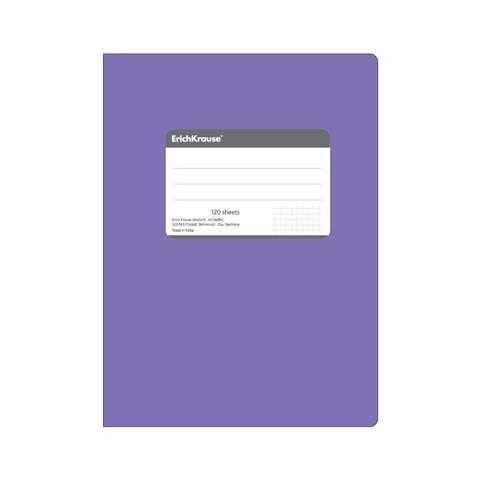 Erich Krause Тетрадь общая В5, FLUOR, 120 листов, клетка72523WDТетрадь 240 страниц, титульная этикетка для записи персональных данных основной блок-клетка, гибкая обложка, шитый блок, скрепленный полиуретаном, закругленные уголки. Белая бумага 70г/м2