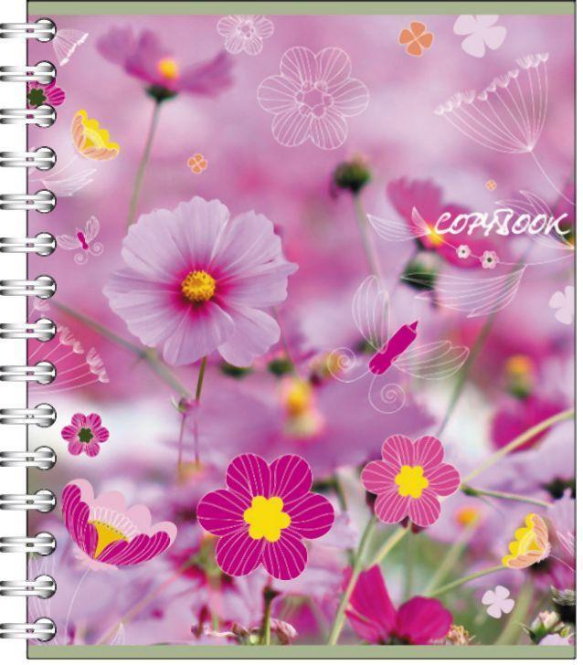 Полиграфика Тетрадь на спирали, 60л Полевые цветы72523WDОбложка:картон мелованный 170 г/м2. Блок: бумага офсетная 55 г/м2