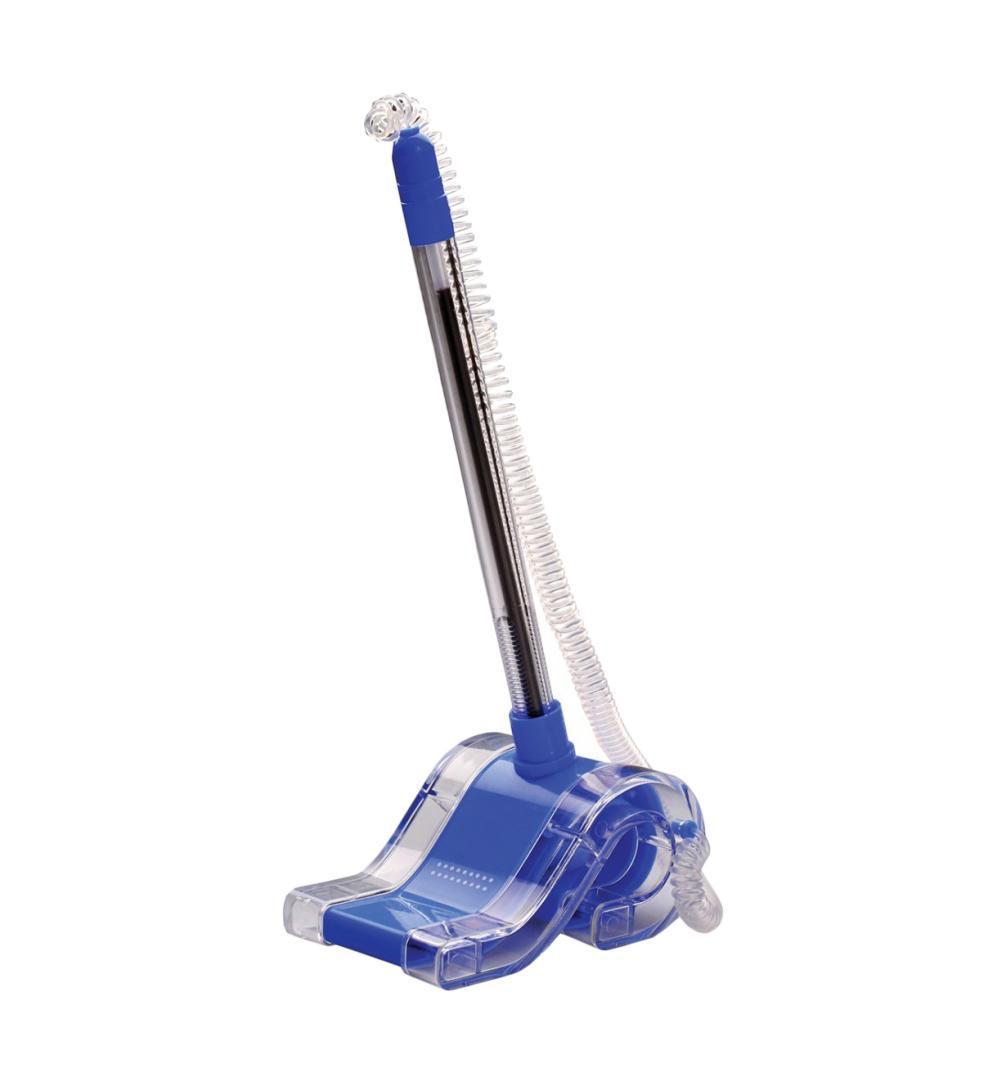 Ручка шариковая синяя 0,7 мм на спиральном шнурке, на подставке с липучкой POSTPEN в индивидуальной упаковке с европодвесом. 8362783627