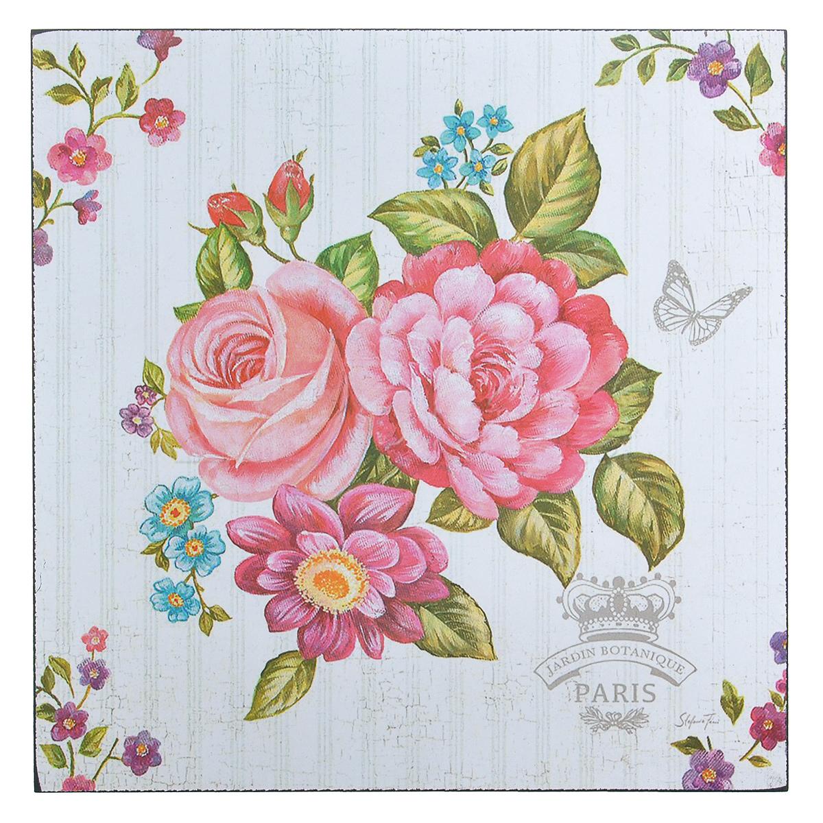 Картина-репродукция без рамки Цветы, 30 х 30 х 1 см 3600531x40 OZ143-50601Картина-репродукция без рамки Цветы выполнена из натуральной древесины. Техника выполнения - масляная печать на холсте. На картине изображены цветы. Такая картина - вдохновляющее декоративное решение, привносящее в интерьер нотки творчества и изысканности! Благодаря оригинальному дизайну картина дополнит интерьер любого помещения, а также сможет стать изысканным подарком для ваших друзей и близких.