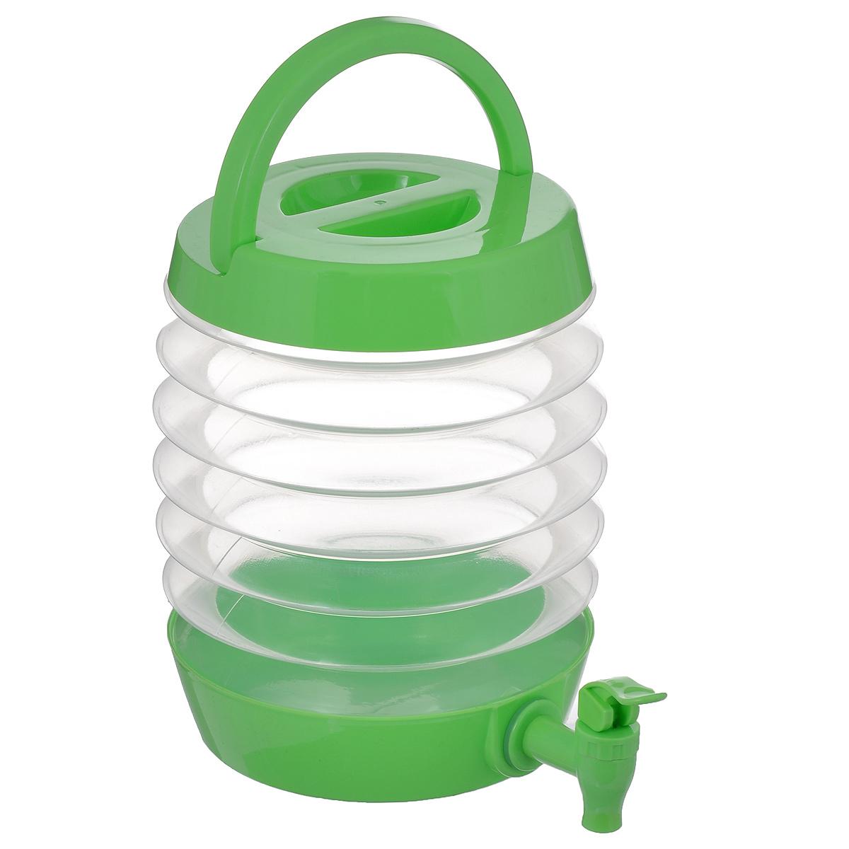 Емкость для напитков Bradex Бочонок, с дозатором, 3,5 лNBP-1000-CЕмкость для напитков Bradex Бочонок изготовлена из полипропилена, который выдерживает температуру до 120°С. Это прочный, износостойкий и абсолютно безопасный для здоровья материал. Дозатор, закрепленный на дне Бочонка, поможет вам не пролить ни капли мимо стакана, даже когда веселье в самом разгаре. Емкость вмещает в себя до 3,5 л. После использования сложите бочонок, его объемы уменьшатся на 50%, поэтому он не займет много места у вас на кухне или в рюкзаке. Бочонок - самый лучший выбор для пикников, вечеринок и походов.
