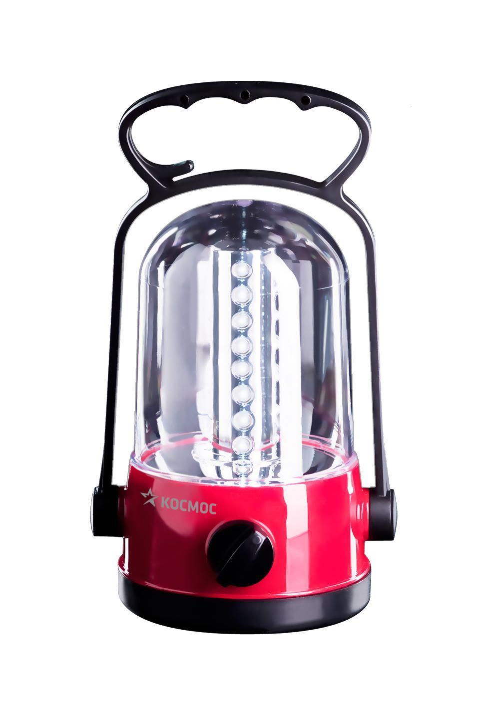 Фонарь кемпинговый Космос, аккумуляторныйKOC-H19-LEDКемпинговый фонарь Космос - это инновационный продукт, сочетающий в себе последние достижения электротехники и эргономики. Он прекрасно подойдет для использования на отдыхе в палатке или на даче. Фонарь имеет надежную ударопрочную конструкцию из пластика и защищен от попадания песка, пыли и влаги внутрь. Он снабжен 32 яркими и экономичными LED элементами. Они не перегорают и не требуют замены. Включение и выключение фонаря происходит при помощи специального переключателя. Фонарь имеет встроенное зарядное устройство и индикацию процесса зарядки. Благодаря удобной складной ручкой-трансформер фонарь можно использовать не только для настольной работы, но и переносить с места на место и освещать объекты на земле. Функция крючка позволяет подвешивать фонарь в качестве источника света внутри помещения и палаток. Фонарь укомплектован сетевым шнуром для подзарядки. Характеристики:Материал: пластик, стекло, металл. Размер фонаря (с учетом ручки):19,5 см х 9 см х 9 см. Тип лампочки:LED. Количество лампочек:32 шт. Аккумуляторная батарея:2х4V 0,9Ah. Время непрерывной работы (при полностью заряженной батарее):до 10 ч. Время полной зарядки фонаря:24 ч. Рабочие температуры фонаря (при полностью заряженной батарее):от - 10°С до +40°С. Размер упаковки:10 см х 20,5 см х 10 см. Производитель: Россия. Изготовитель: Китай. Артикул:KOCAc6010LED. Прилагается инструкция по эксплуатации на русском языке. Космос - российский бренд электротоваров, созданный, чтобы обеспечить отечественного покупателя качественной энергосберегающей и энергоэффективной продукцией в категориях:Лампы, светильники Сезонные электротовары Элементы питания, фонари Электроустановочные изделия. Лучшие заводы шести стран мира: Россия, Украина, Белоруссия, Китай, Корея, Япония производят товары Космос на базе современных технологий.