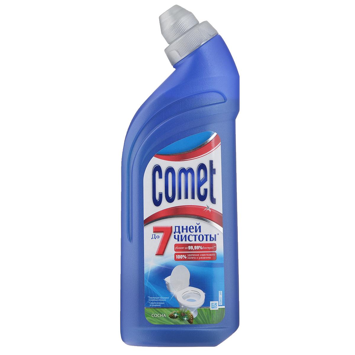 Чистящее средство для туалета Comet, сосна, 500 млCG-80227816Чистящее средство Comet для туалета сохраняет чистоту до 7 дней, благодаря защитному слою. Средство отлично чистит и удаляет известковый налет и ржавчину, а также дезинфицирует поверхность. Обладает приятным ароматом сосны.Товар сертифицирован.УВАЖАЕМЫЕ КЛИЕНТЫ!Обращаем ваше внимание на возможные изменения в дизайне товара. Поставка осуществляется в зависимости от наличия на складе.