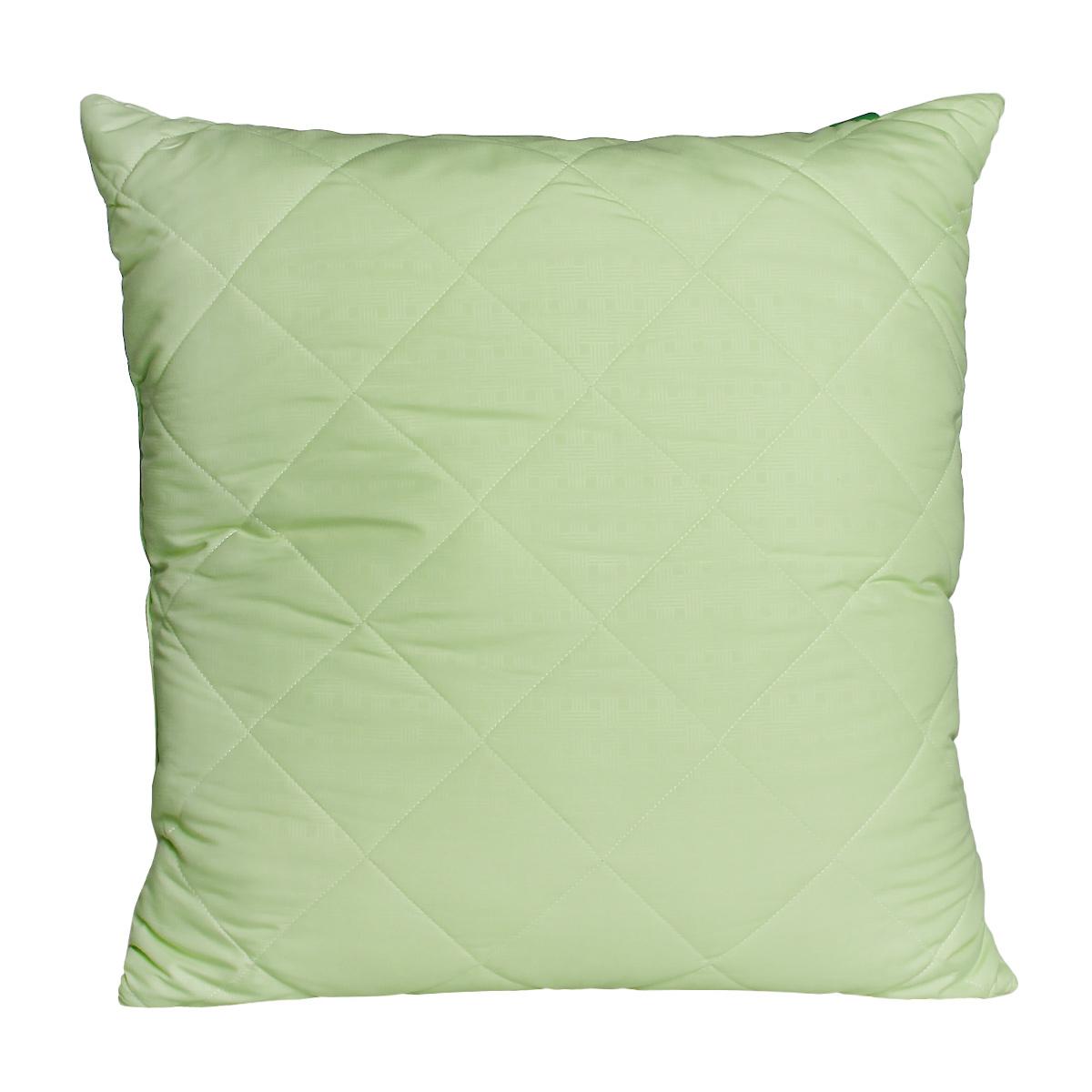 Подушка OL-Tex Miotex, наполнитель: волокно бамбука, цвет: фисташковый, 68 х 68 см07701-501Мягкая и упругая подушка OL-Tex Miotex подарит комфорт и уют во время сна. Чехол изделия выполнен из микрофибры фисташкового цвета и оформлен стежкой, которая равномерно удерживает наполнитель в чехле. Бамбуковое полотно не накапливает пыль и запахи. Обладает гипоаллергенными свойствами, поэтому подушки с таким наполнителем подходят людям, страдающим аллергией и астмой. Подушка не теряет своих качеств при многократных стирках. Легко стирается и быстро сохнет.Рекомендации по уходу:- Ручная и машинная стирка при температуре 30°С.- Не гладить.- Не отбеливать. - Нельзя отжимать и сушить в стиральной машине.- Сушить вертикально. Размер подушки: 68 см х 68 см. Материал чехла: микрофибра (100% полиэстер). Материал наполнителя: волокно бамбука. Плотность: 100 г/м2.