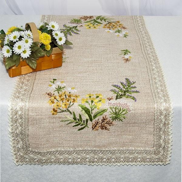 Дорожка для декорирования стола Schaefer, прямоугольная, цвет: бежевый, 50 x 100 см 6489/3851004900000360Набор домашнего текстиля (90% полиэстер, 10% вискоза) (Дорожка, 50*100 см; )Изысканный текстиль от немецкой компании Schaefer – это красота, стиль и уют в вашем доме.Дорожка послужит прекрасным декором, как для гостиной, так и для кухни, идеально подойдет для любого интерьера и события от домашних завтраков до романтического ужина. Дарите себе и близким красоту каждый день! Изделие легко стирать и гладить, не требует специального ухода.