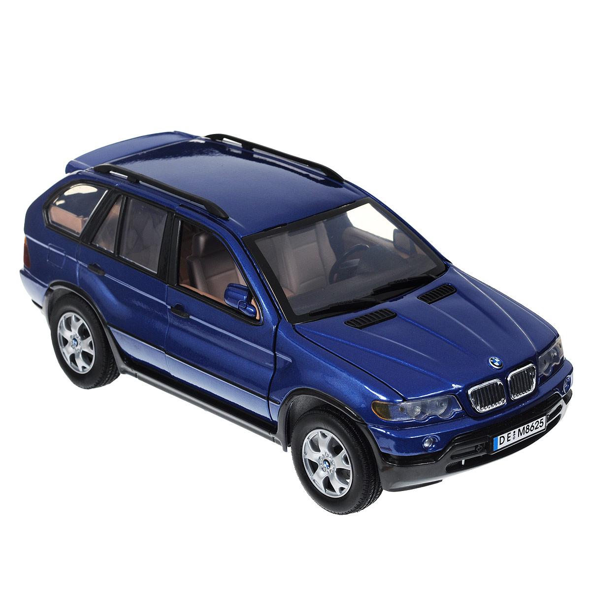 Autotime Коллекционная модель автомобиля BMW X5, цвет: синий. Масштаб 1/18 motormax модель автомобиля bmw z8 масштаб 1 60