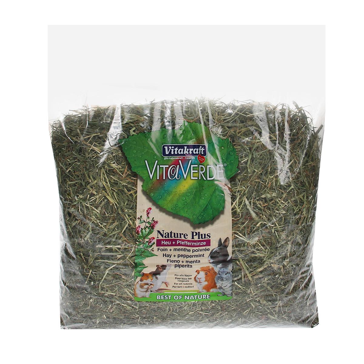 Сено луговое Vitakraft Vita Verde, с перечной мятой, 500 г0120710Сено луговое Vitakraft Vita Verde из тщательно отобранных луговых трав с перечной мятой. Мята полезна при проблемах с желудком и кишечником, а также при заболеваниях желчного пузыря и печени. Сено может быть использовано в качестве наполнителя в клетку и в качестве корма. Ежедневно давайте грызунам свежую порцию сена. Состав: сено.Вес: 500 г.Товар сертифицирован.