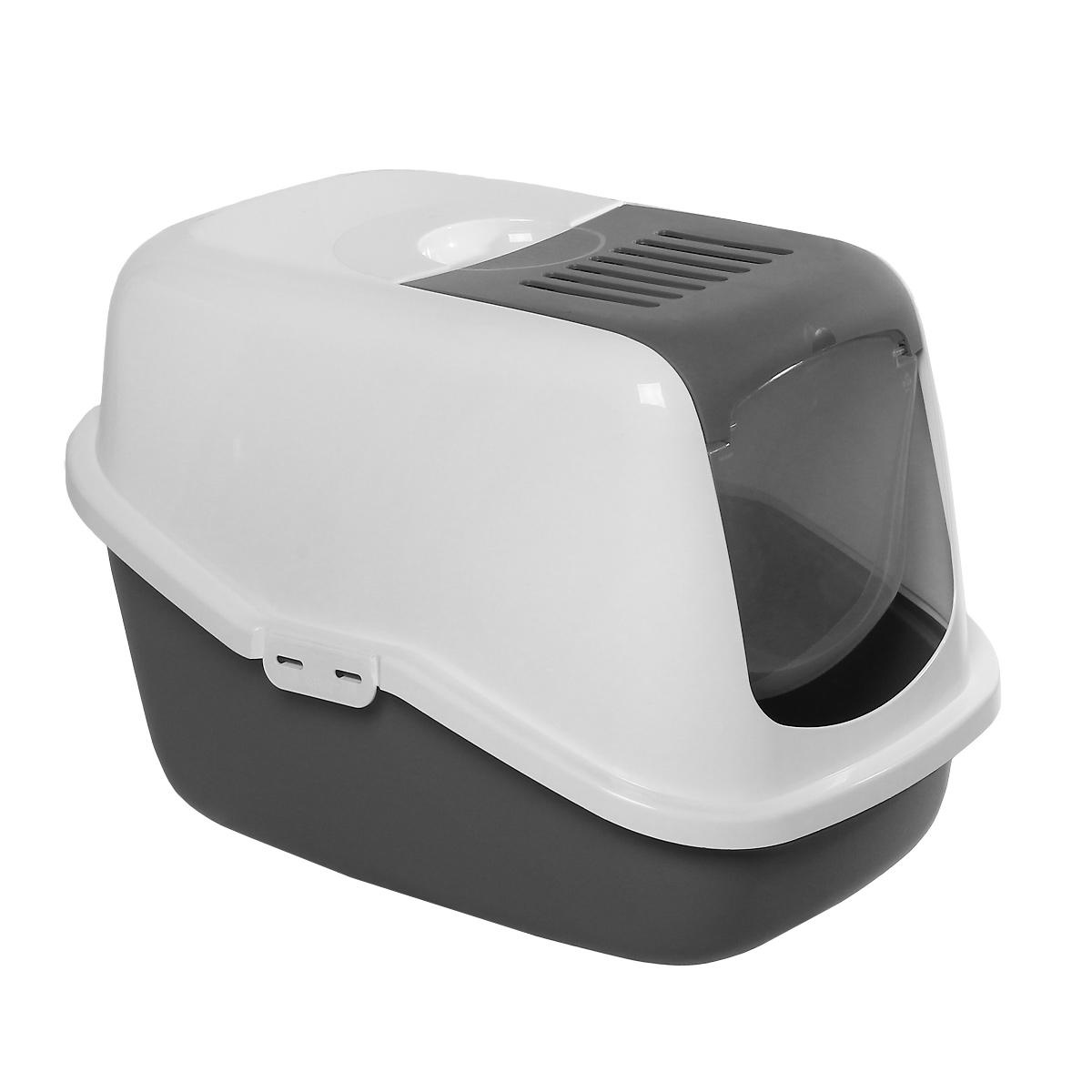 Туалет для кошек Savic Nestor, закрытый, цвет: белый, светло-серый, 56 см х 39 см х 38,5 см2460Туалет для кошек Savic Nestor изготовлен из качественного прочного пластика в виде домика. Легкая прозрачная пластиковая крышка предотвратит распространение запаха в доме.Это самый простой в употреблении предмет обихода для кошек и котов.Фильтр в комплект не входит.