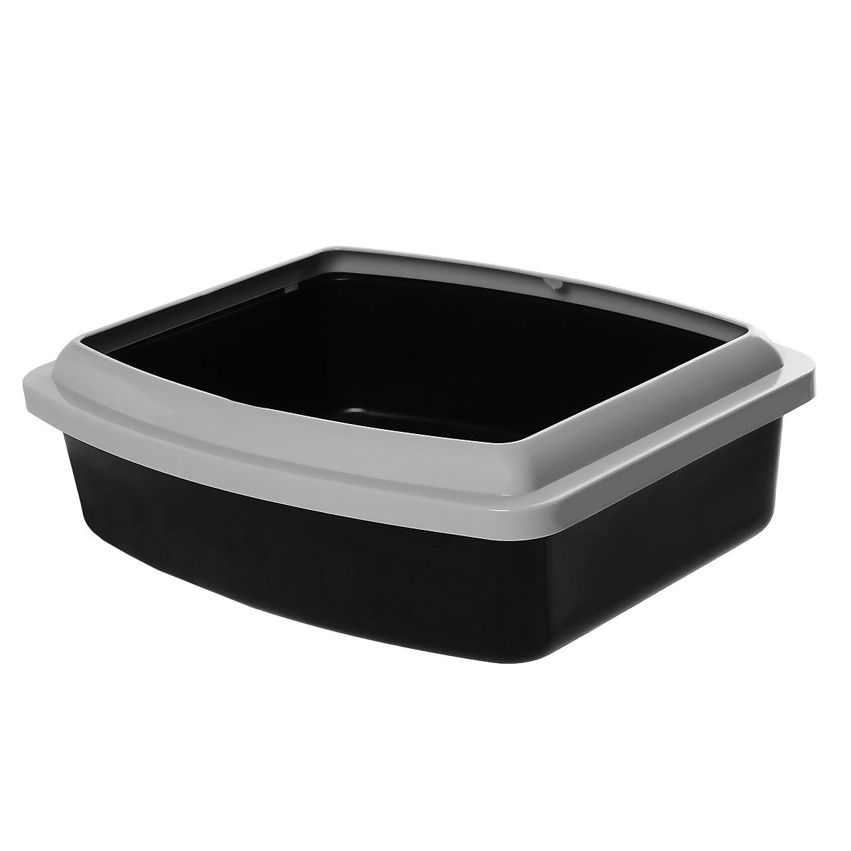 Туалет для кошек Savic Oval Trays, с бортом, цвет: черный, 48 х 39 см0120710Туалет для кошек Savic Oval Trays изготовлен из качественного прочного пластика. Высокий цветной борт, прикрепленный по периметру лотка, удобно защелкивается и предотвращает разбрасывание наполнителя.