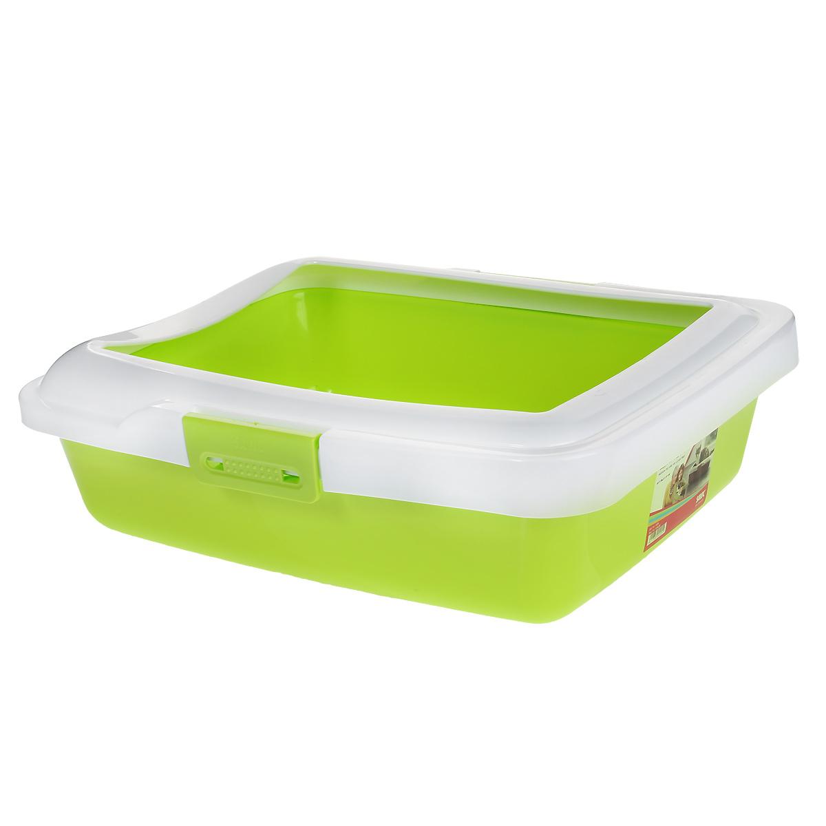 Туалет для кошек Savic Aristos Medium, с бортом, цвет: салатовый, 43 х 35 см0120710Туалет для кошек Savic Aristos Medium изготовлен из качественного прочного пластика. Высокий цветной борт, прикрепленный по периметру лотка замками, удобно защелкивается и предотвращает разбрасывание наполнителя. Это самый простой в употреблении предмет обихода для кошек и котов.