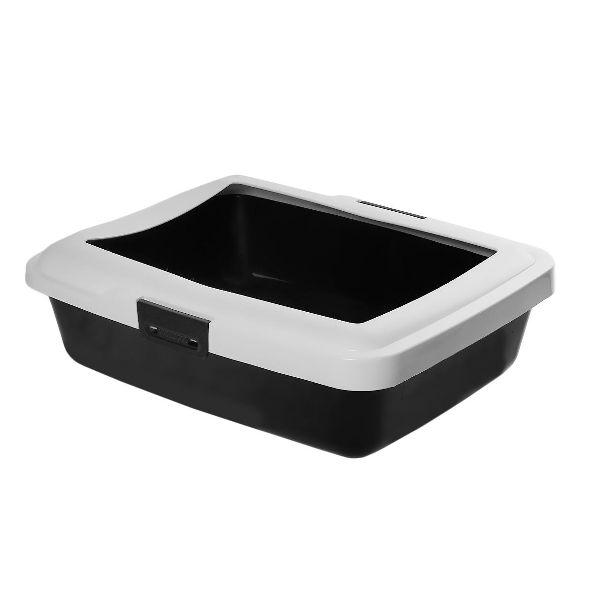 Туалет для кошек Savic Aristos Large, с бортом, цвет: черный, белый, 49,5 см х 39,5 см х 15 см12171996Туалет для кошек Savic Aristos Large изготовлен из качественного прочного пластика. Высокий цветной борт, прикрепленный по периметру лотка замками, удобно защелкивается и предотвращает разбрасывание наполнителя.Это самый простой в употреблении предмет обихода для кошек и котов.