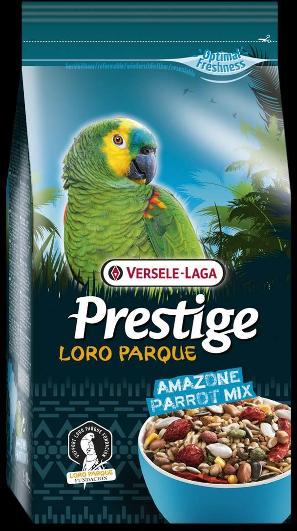 Корм для крупных попугаев Versele-Lago Amazon Parrot Loro Parque Mix, 1 кг0120710Смесь Versele-Lago Amazon Parrot Loro Parque Mix для крупных попугаев - это обогащенная зерновая смесь с дополнительными питательными веществами, разработанная специально для южно-американских крупных попугаев, таких как попугаи амазоны, пионусы, белобрюхие попугаи, мелкие ара и большие аратинги. Все смеси серии Prestige Premium Loro Parque приготовлены из различных семян и зерен и содержат вкусные для попугаев кусочки, такие как воздушные зерна, семена тыквы, шиповник, сушеный перец и кедровые орешки. Этот основной высококачественный корм с низким содержанием жира обогащен 8% гранул Maxi ВAM, обеспечивающими дополнительный запас витаминов, аминокислот и минералов. Данная смесь адаптирована под потребности попугаев, ее состав разрабатывался совместно с научно-исследовательской группой Loro Parque. Смесь применяется в качестве основного корма для всех попугаев ара. После успешного опыта применения в известном Loro Parque (в Тенерифе), данная смесь стала доступна для всех владельцев попугаев в любом уголке земли. Versele-Laga поддерживает фонд Loro Parque Fundacion в стремлении сохранить вымирающие виды птиц и их среду обитания. Приобретая данную продукцию, вы помогаете фонду Loro Parque Fundacion защищать природу.Состав: семена подсолнечника полосатого, белые семена подсолнечника, гранулы Maxi ВAM, гречиха, остроконечный овес, семена сафлора, кукуруза, пшеница, семена тыквы очищенные, очищенный арахис, орехи сосны, семена конопли, ракушки устриц, воздушная кукуруза, шиповник, воздушная пшеница, красный перец, сорго, белое просо, канареечное семя, дари, рожковое дерево, ячмень, рис-сырец, желтое просо.Анализ состава: белки 13%, жиры 10%, клетчатка 10%, зола 5%, кальций 0,92%, фосфор 0,37%, лизин 4000 мг/кг, метионин 3000 мг/кг, витамин А8000 МЕ/кг, витамин D3 1600 МЕ/кг, витамин E 20 мг/кг.Добавки: витамин B1, витамин B2, витамин B6, витамин B12, витамин C, витамин PP, витамин К, биотин, 